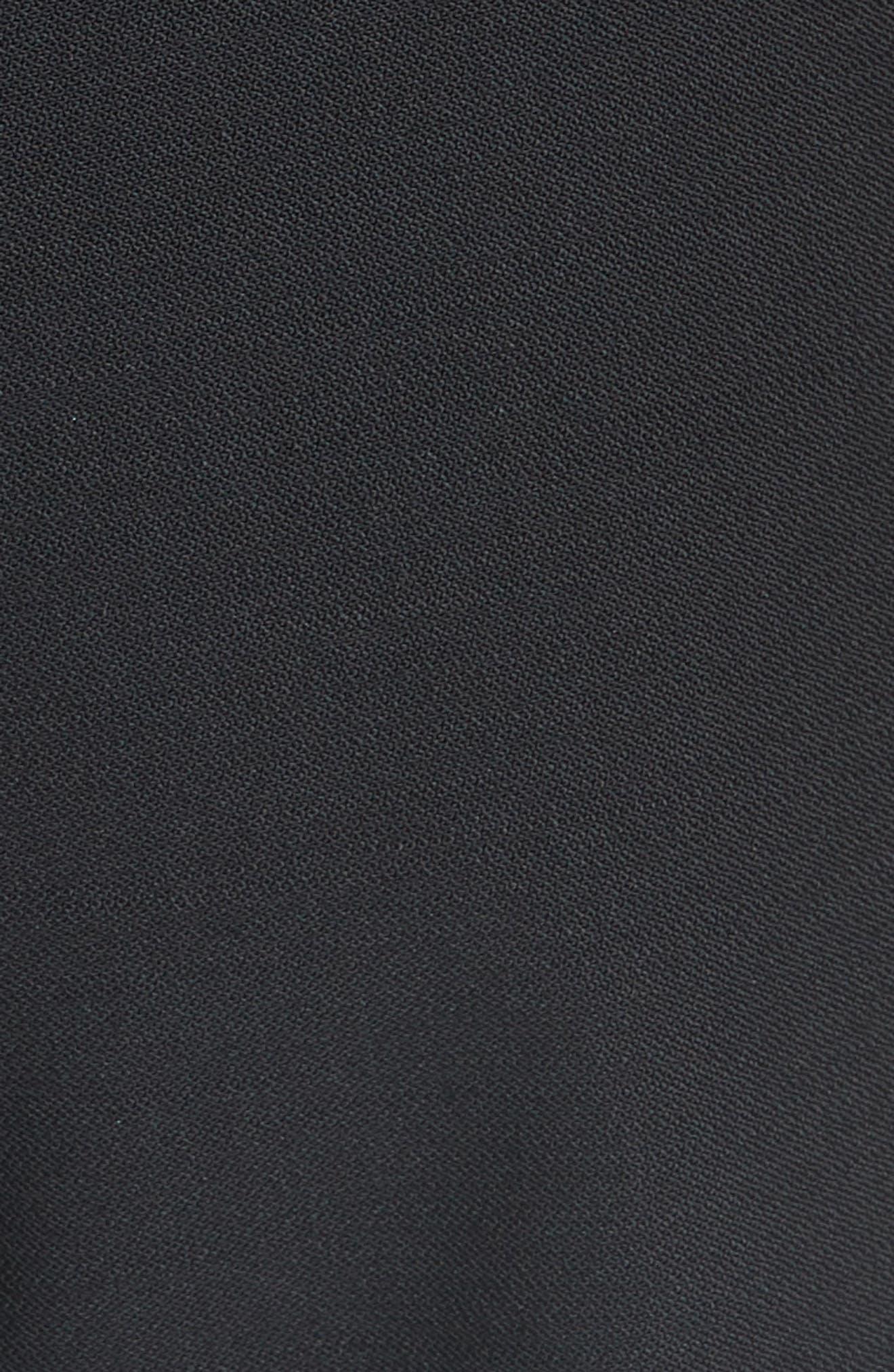 High Rise Wide Leg Crop Pant,                             Alternate thumbnail 5, color,                             001