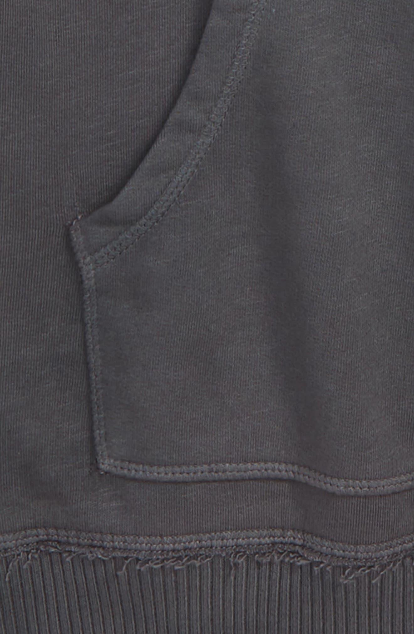 Hooded Sweatshirt,                             Alternate thumbnail 2, color,                             GREY ONYX WASH