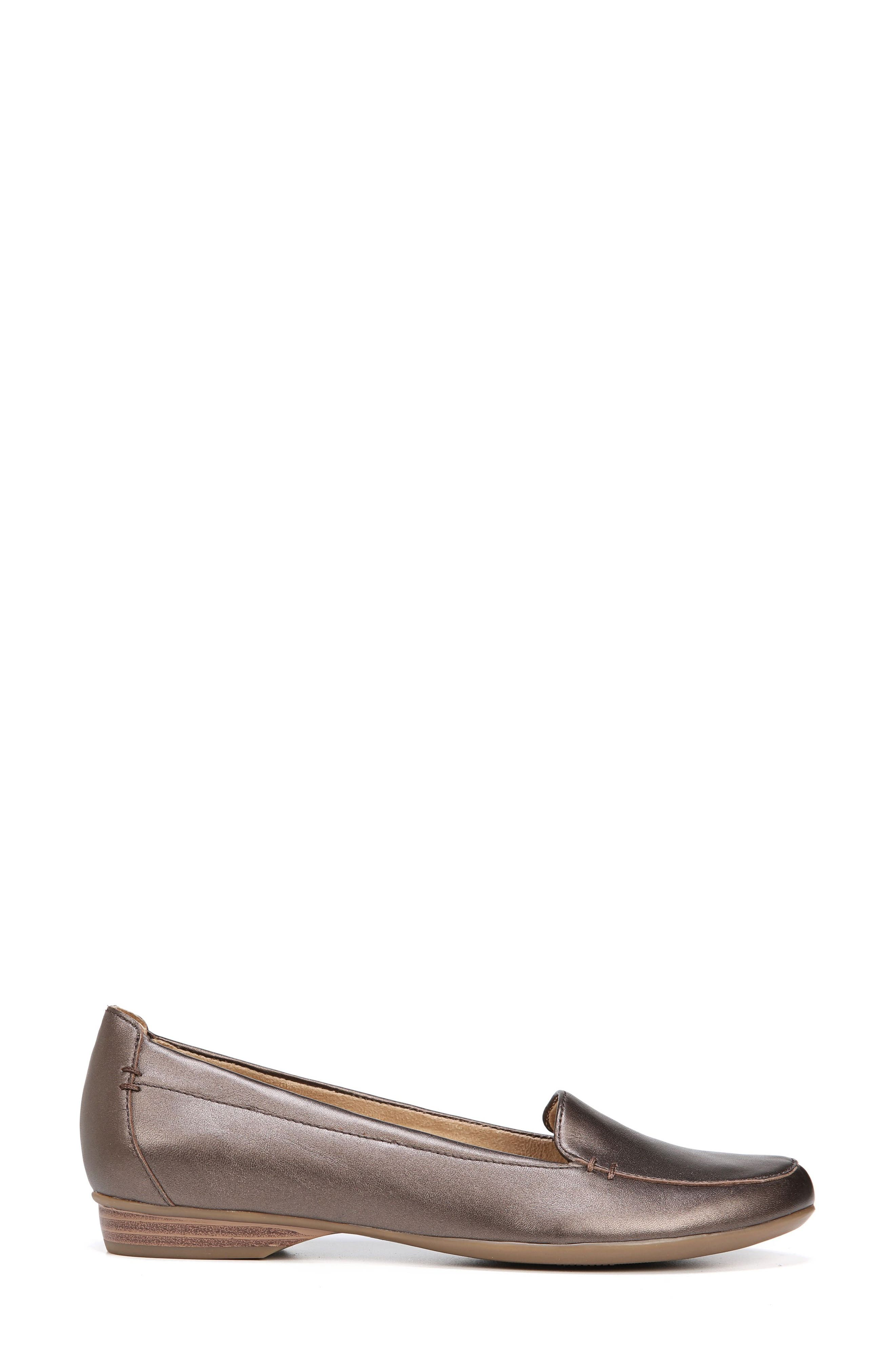 'Saban' Leather Loafer,                             Alternate thumbnail 3, color,                             BROWN BRONZE LEATHER