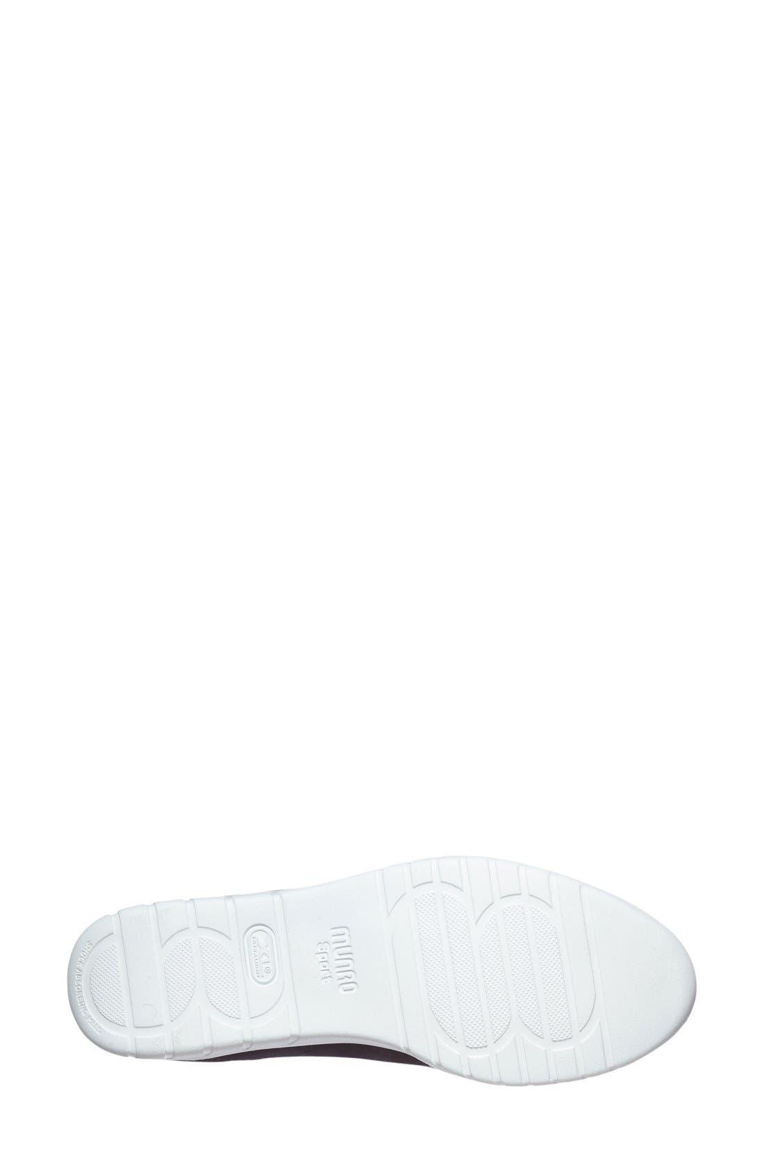 'Wellesley' Oxford Sneaker,                             Alternate thumbnail 4, color,                             BLACK SUEDE
