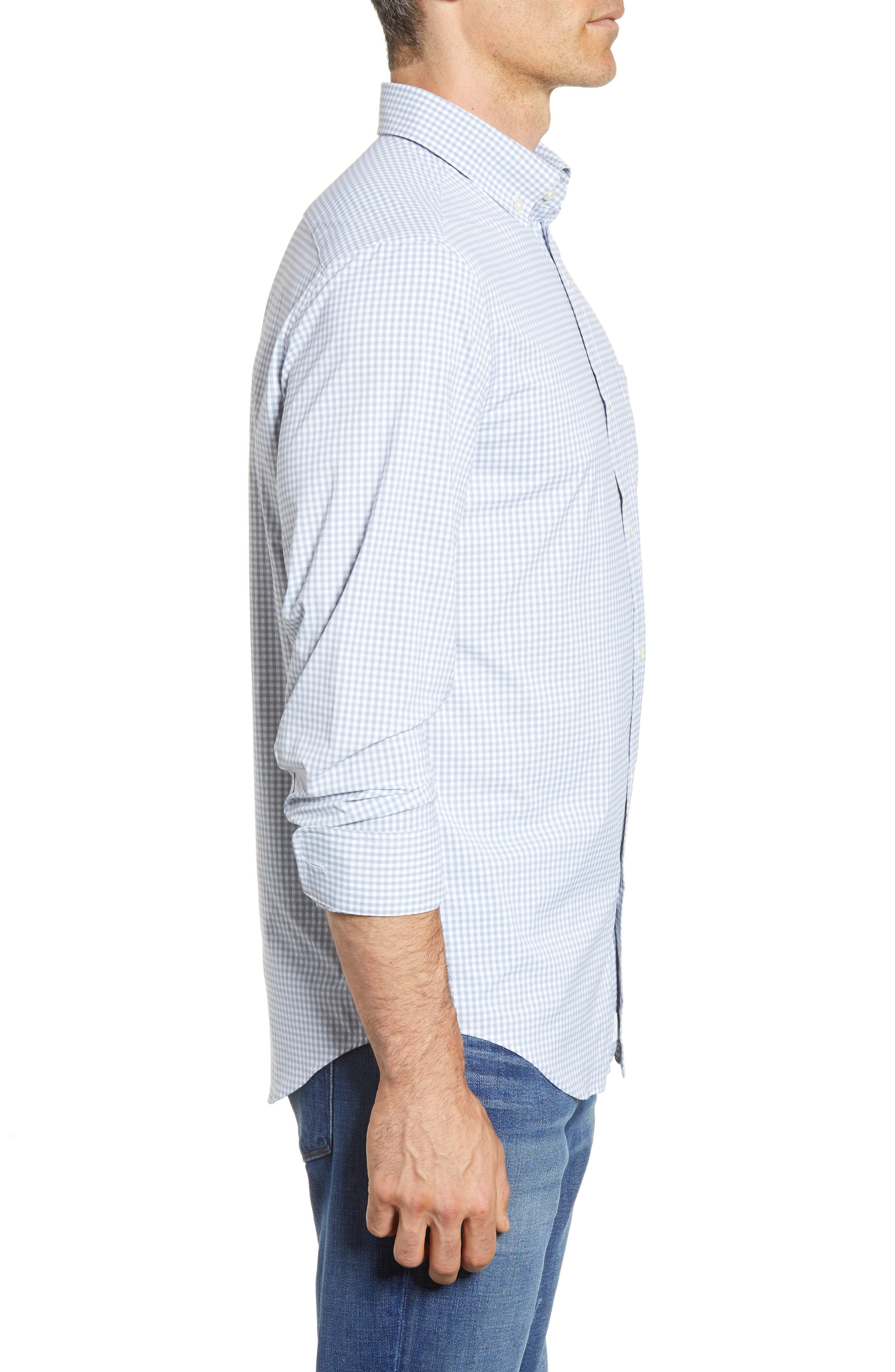 VINEYARD VINES,                             Grand Cay Tucker Regular Fit Gingham Performance Sport Shirt,                             Alternate thumbnail 3, color,                             023