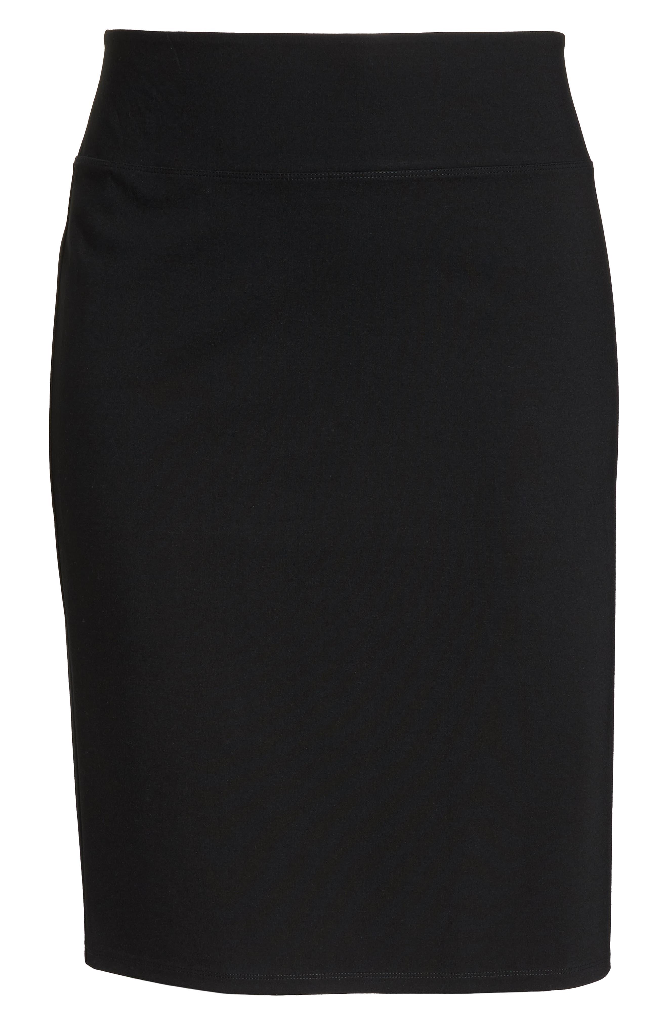 Ponte Skirt,                             Alternate thumbnail 6, color,                             BLACK