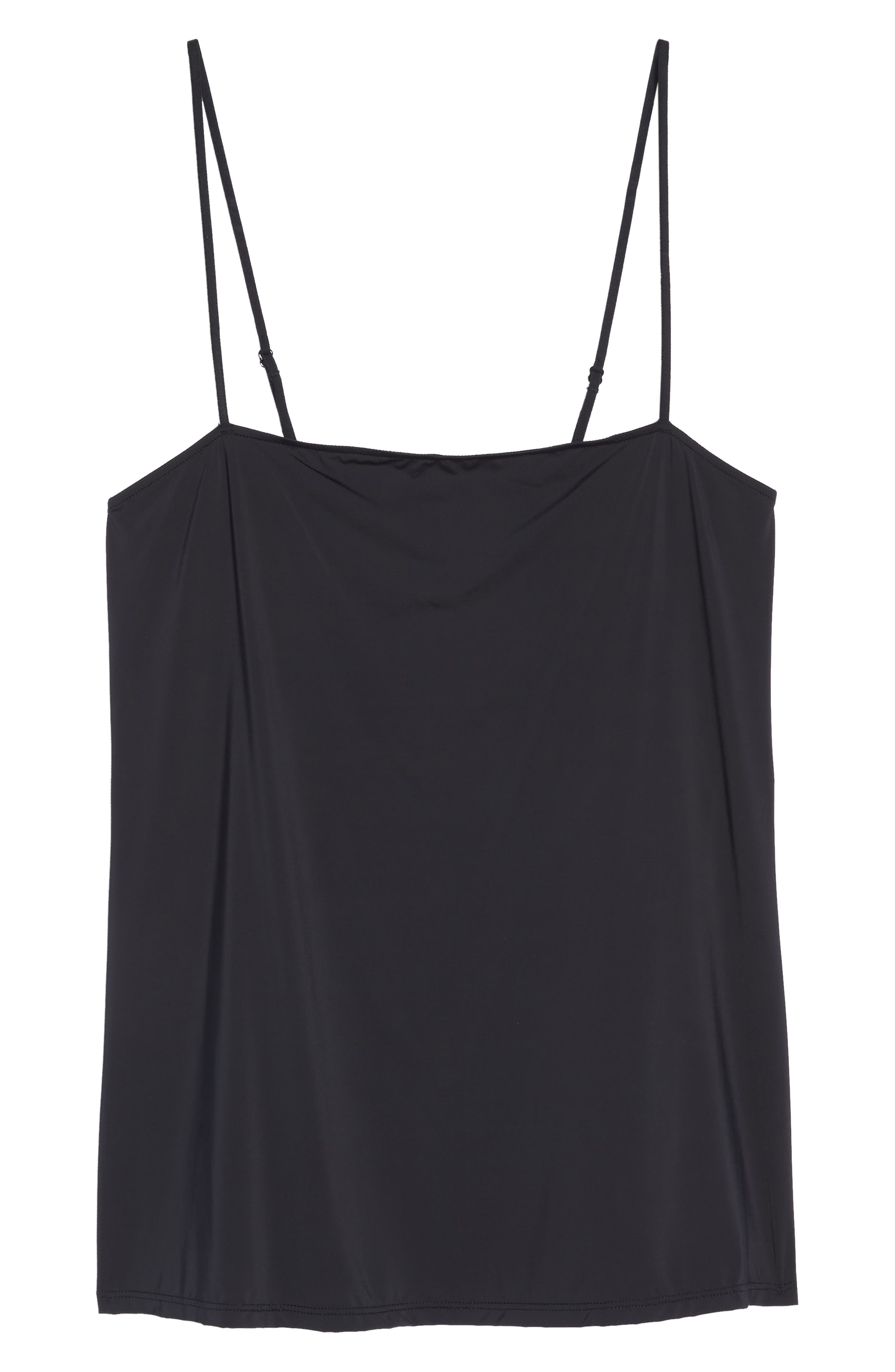 Infinity Lace Back Camisole,                             Alternate thumbnail 6, color,                             BLACK