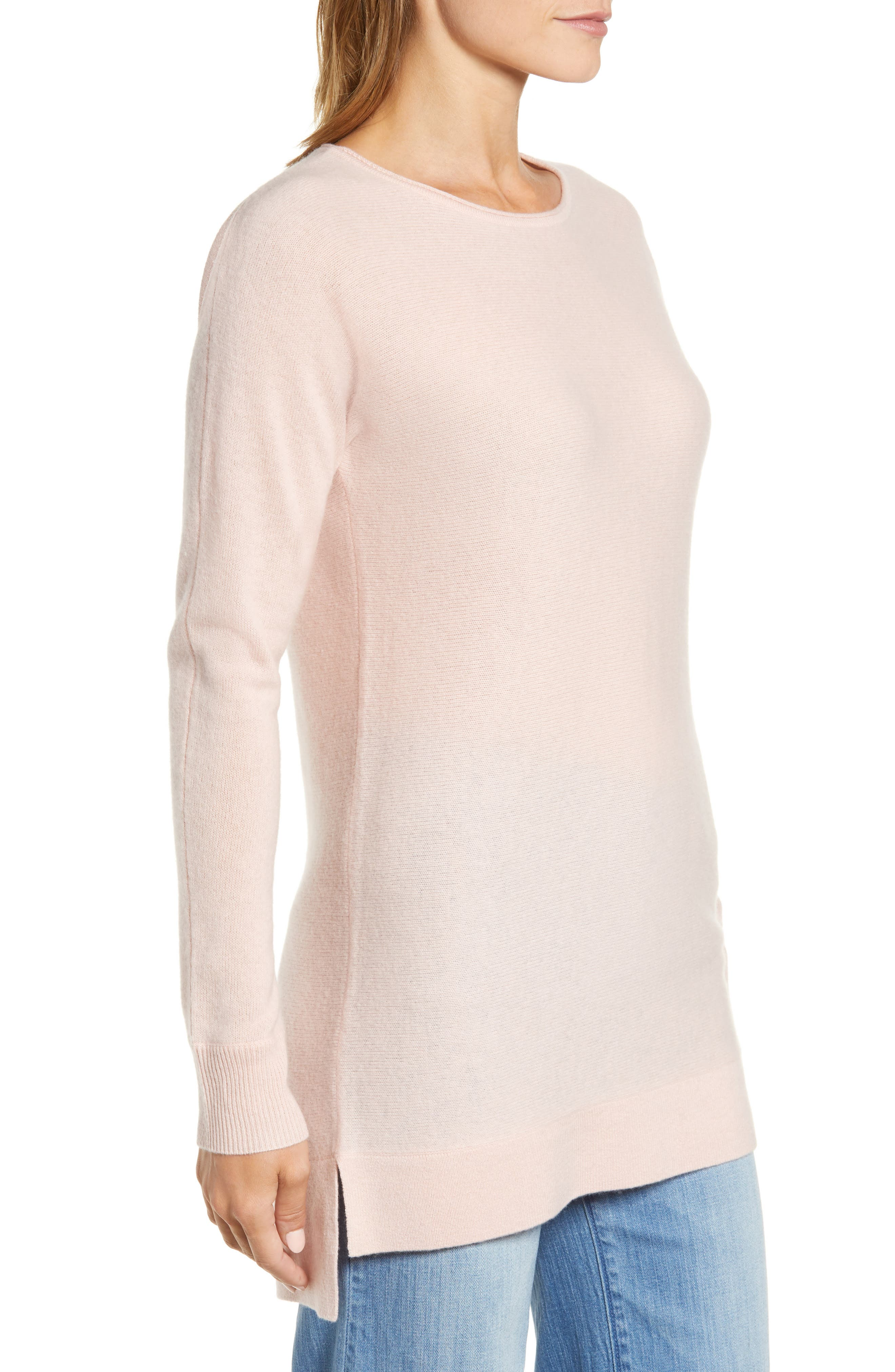 High/Low Wool & Cashmere Tunic Sweater,                             Alternate thumbnail 52, color,