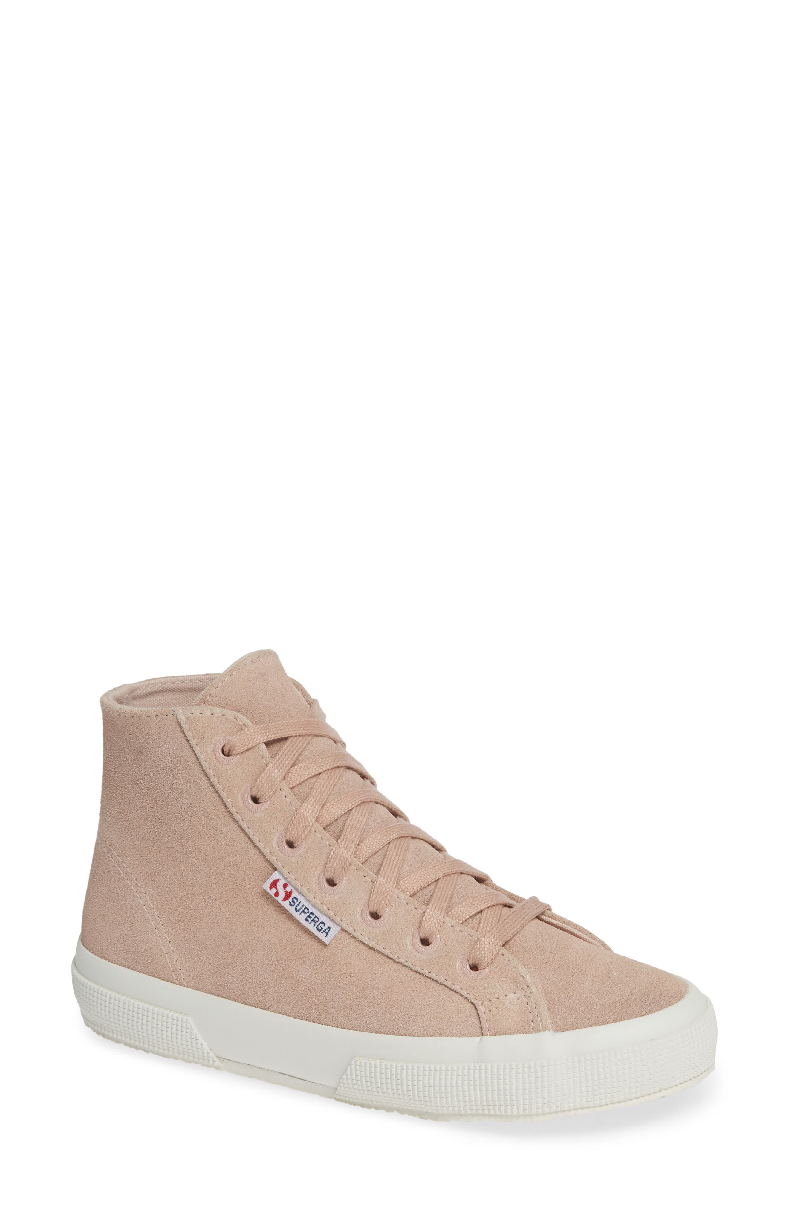 2795 High Top Sneaker,                             Main thumbnail 1, color,                             ROSE SUEDE
