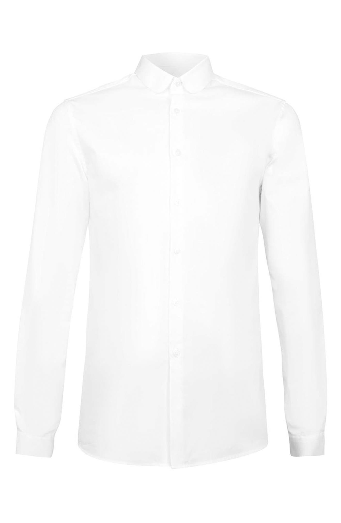 Penny Collar Shirt,                             Alternate thumbnail 4, color,                             WHITE