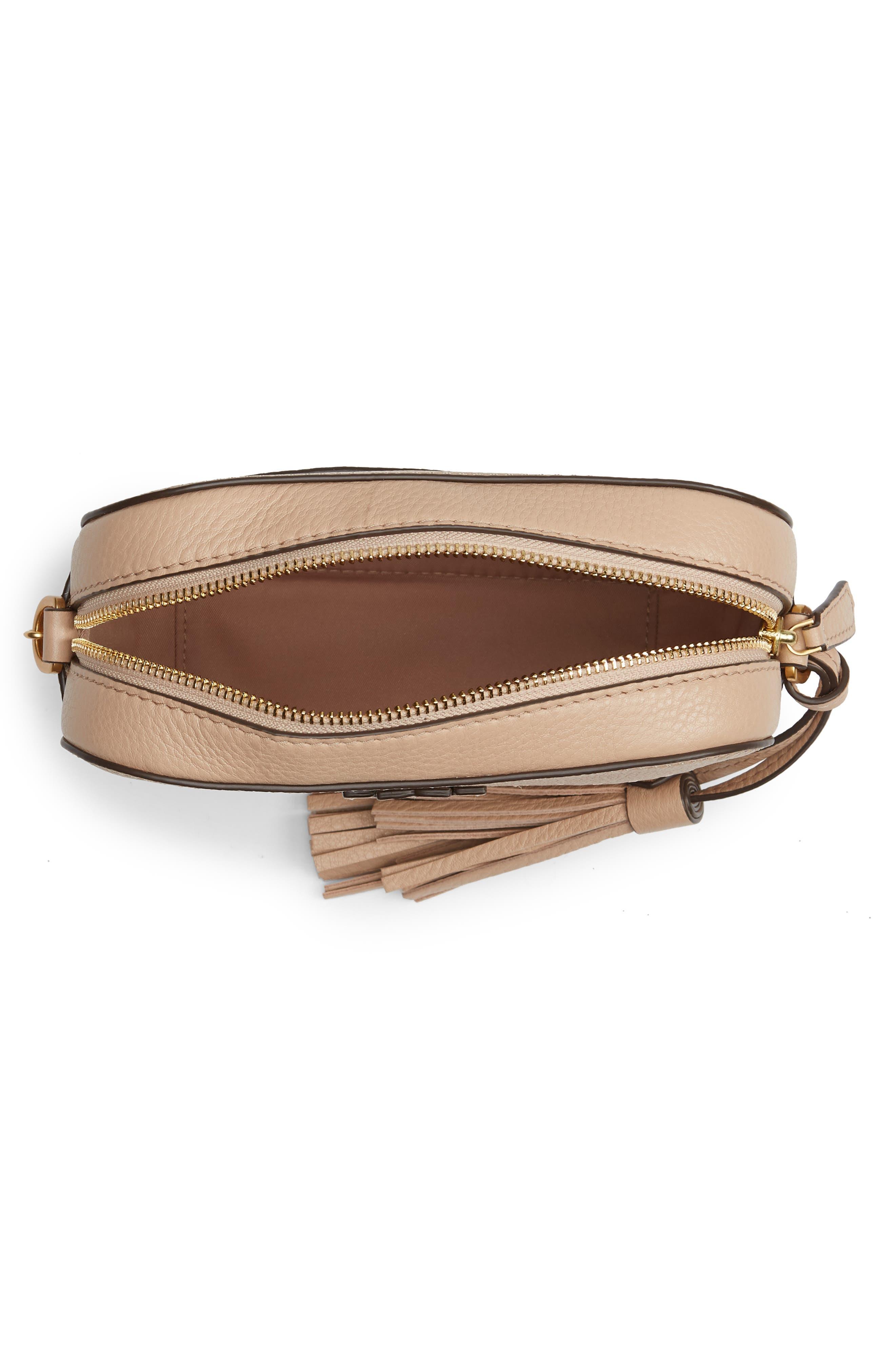 McGraw Leather Camera Bag,                             Alternate thumbnail 4, color,                             DEVON SAND