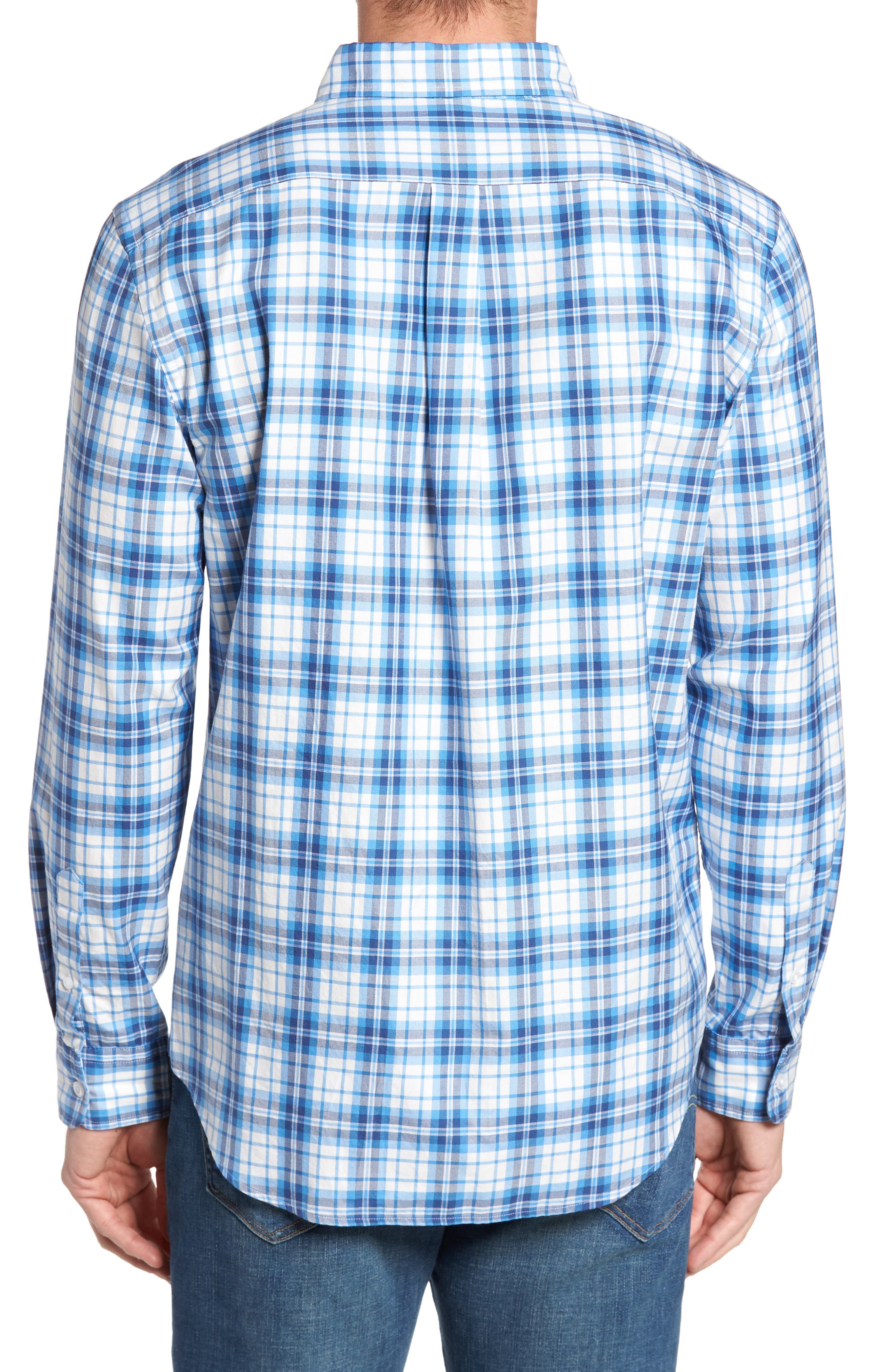 Shore Town Classic Fit Plaid Sport Shirt,                             Alternate thumbnail 2, color,