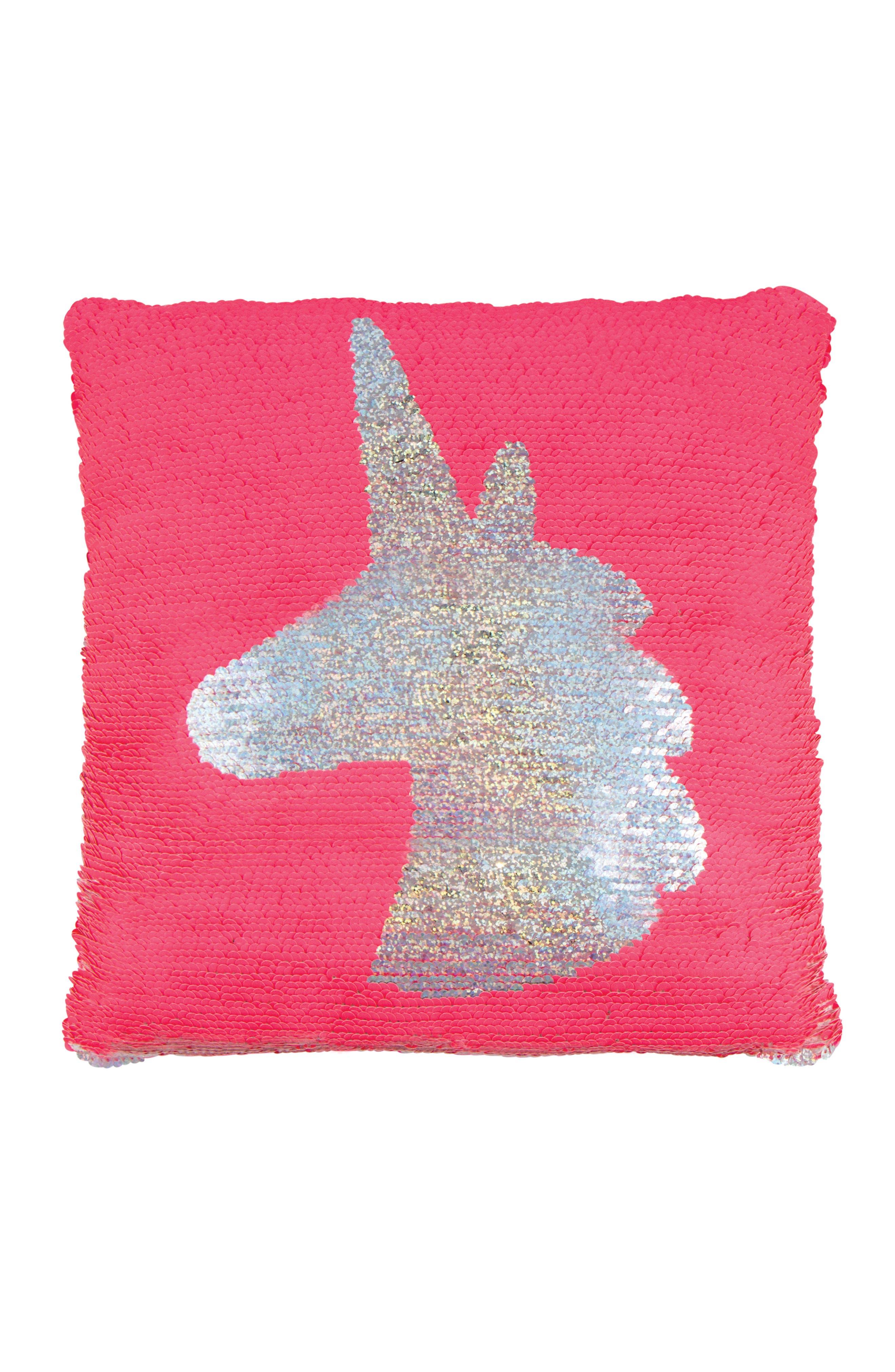 Magic Flip Sequin Unicorn Accent Pillow,                             Main thumbnail 1, color,                             650