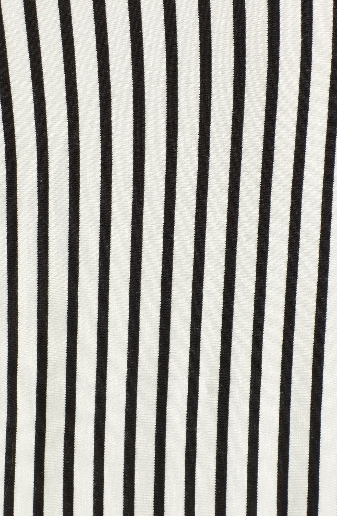 V-Neck Stripe Top,                             Alternate thumbnail 5, color,                             008