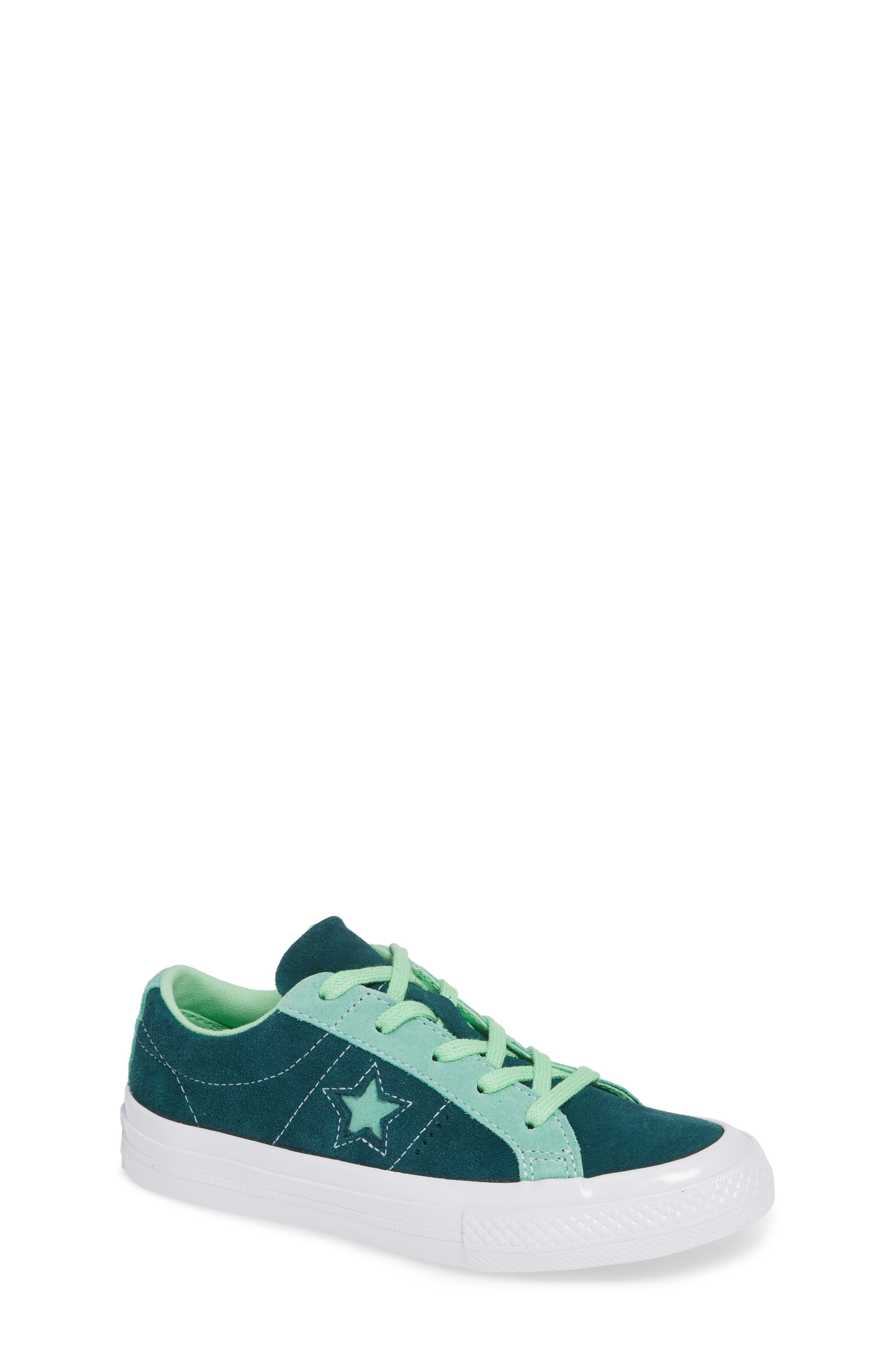 boy's converse one star carnival low top sneaker, size 3 m - green