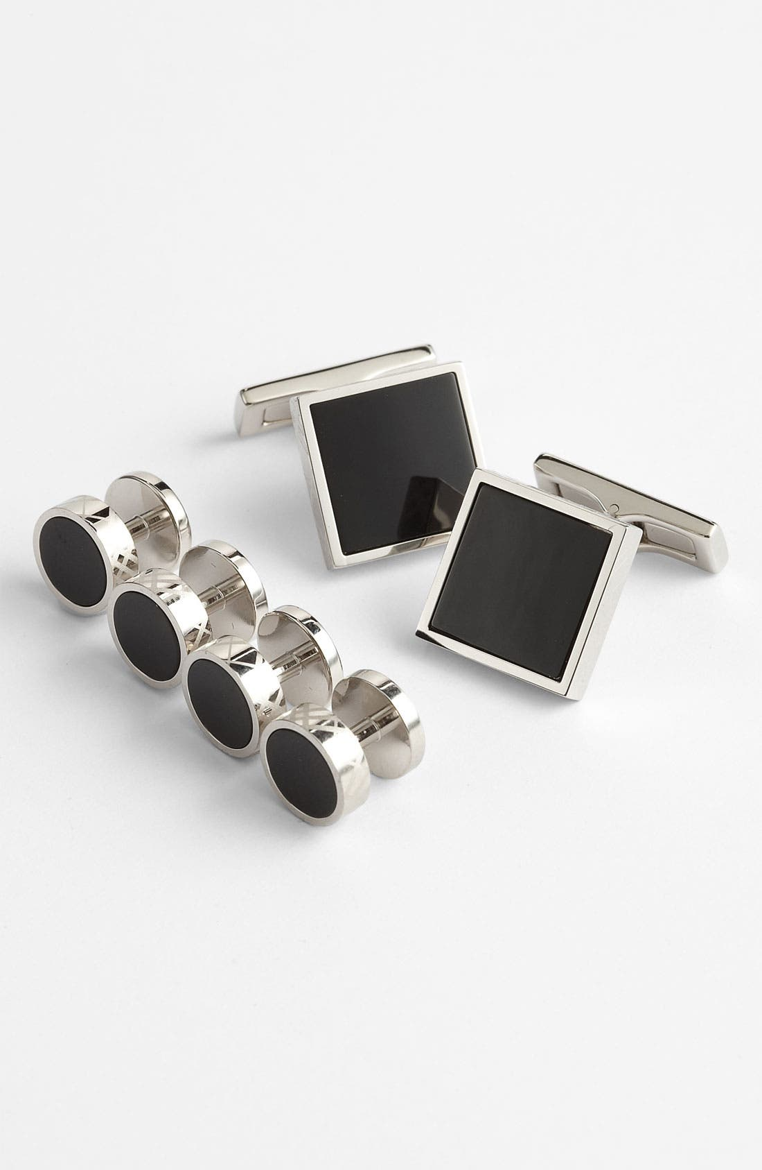 Cuff Links & Shirt Stud Set,                             Main thumbnail 1, color,                             001