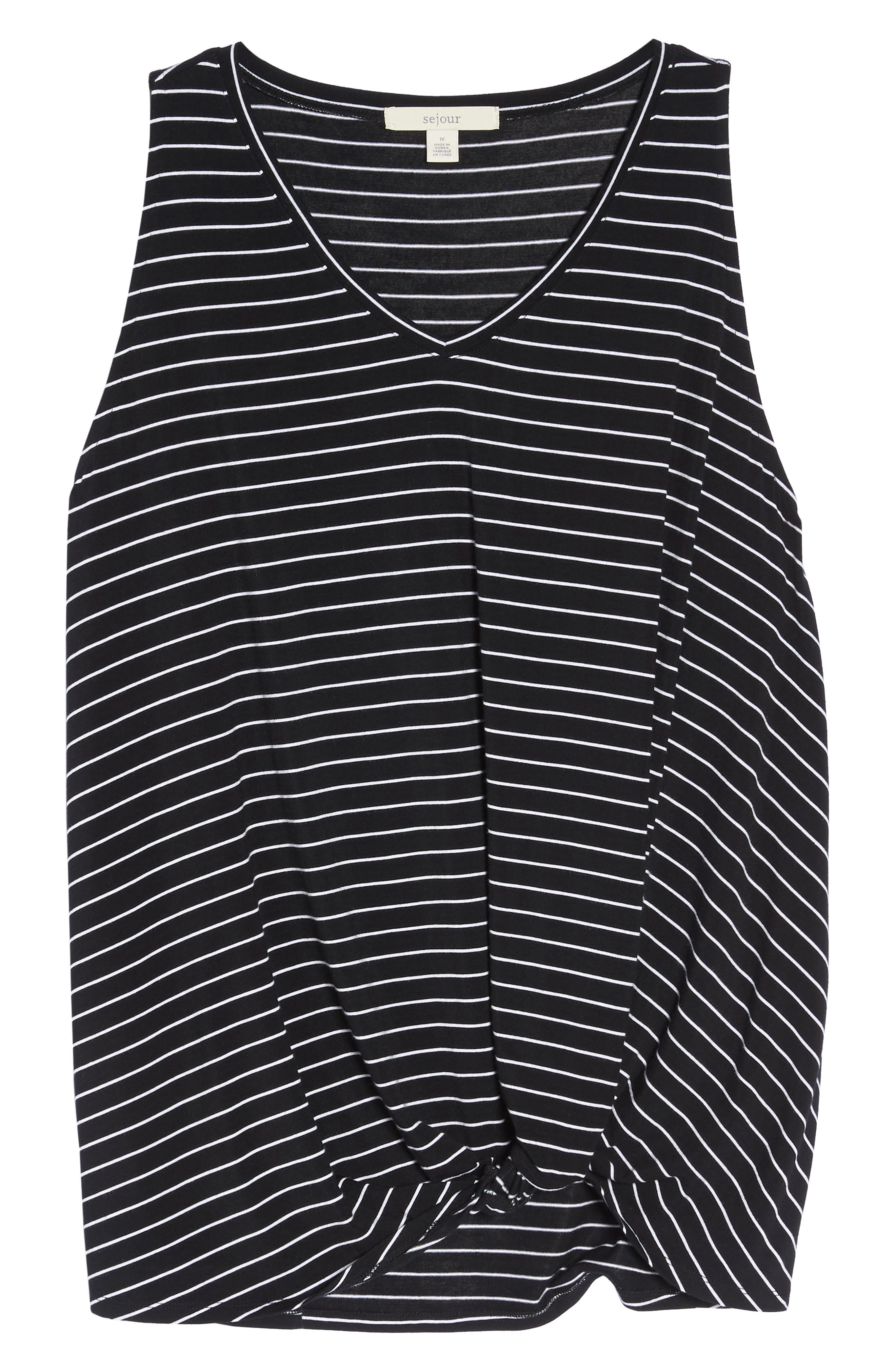 Twisted Waist Tank Top,                             Alternate thumbnail 7, color,                             001