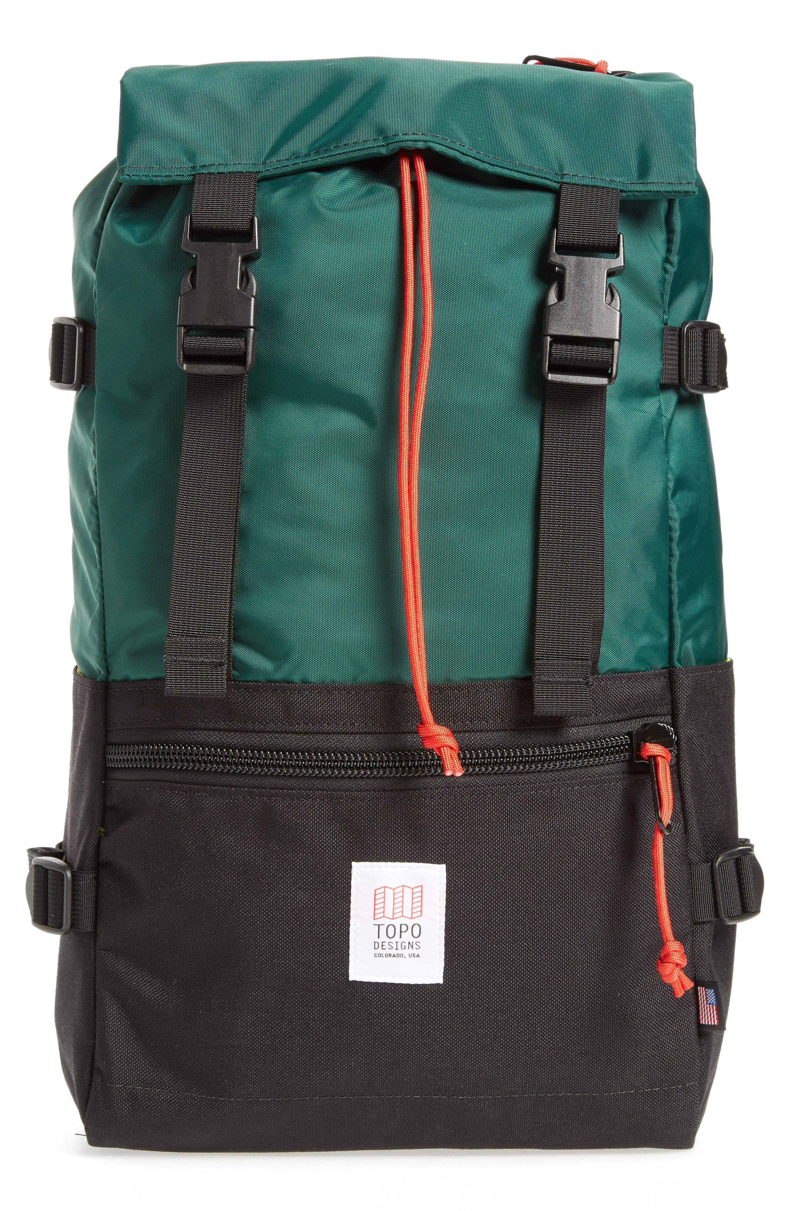 Rover Backpack,                         Main,                         color, FOREST/ BLACK