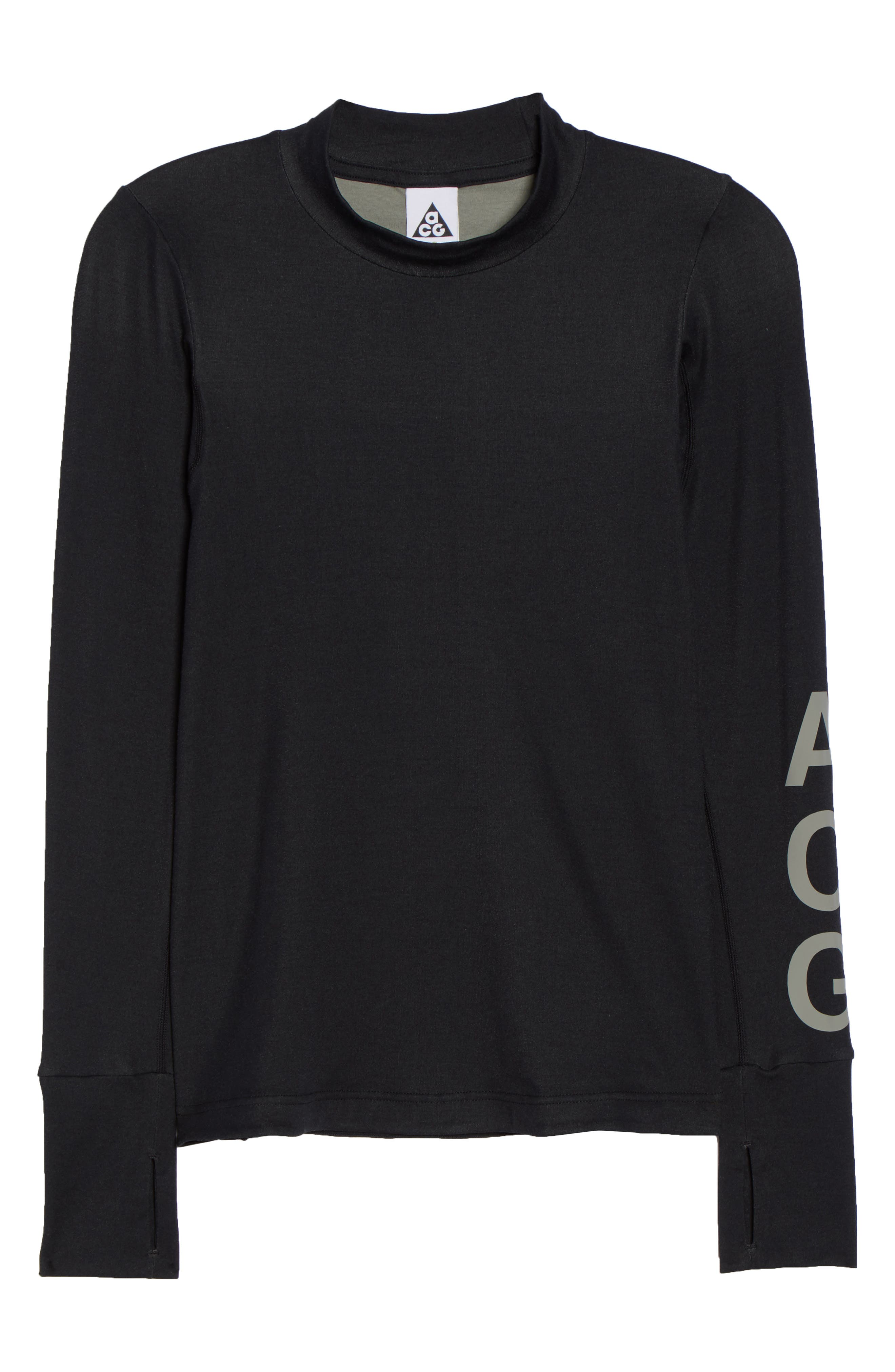 NikeLab ACG Long Sleeve Women's Top,                             Alternate thumbnail 7, color,                             010