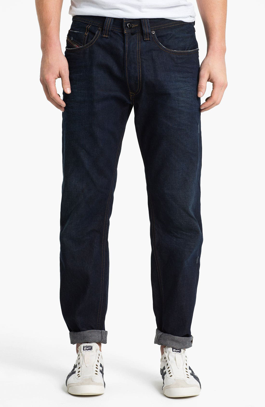 'Back in the Saddle' Relaxed Tapered Leg Jeans,                             Alternate thumbnail 4, color,                             400