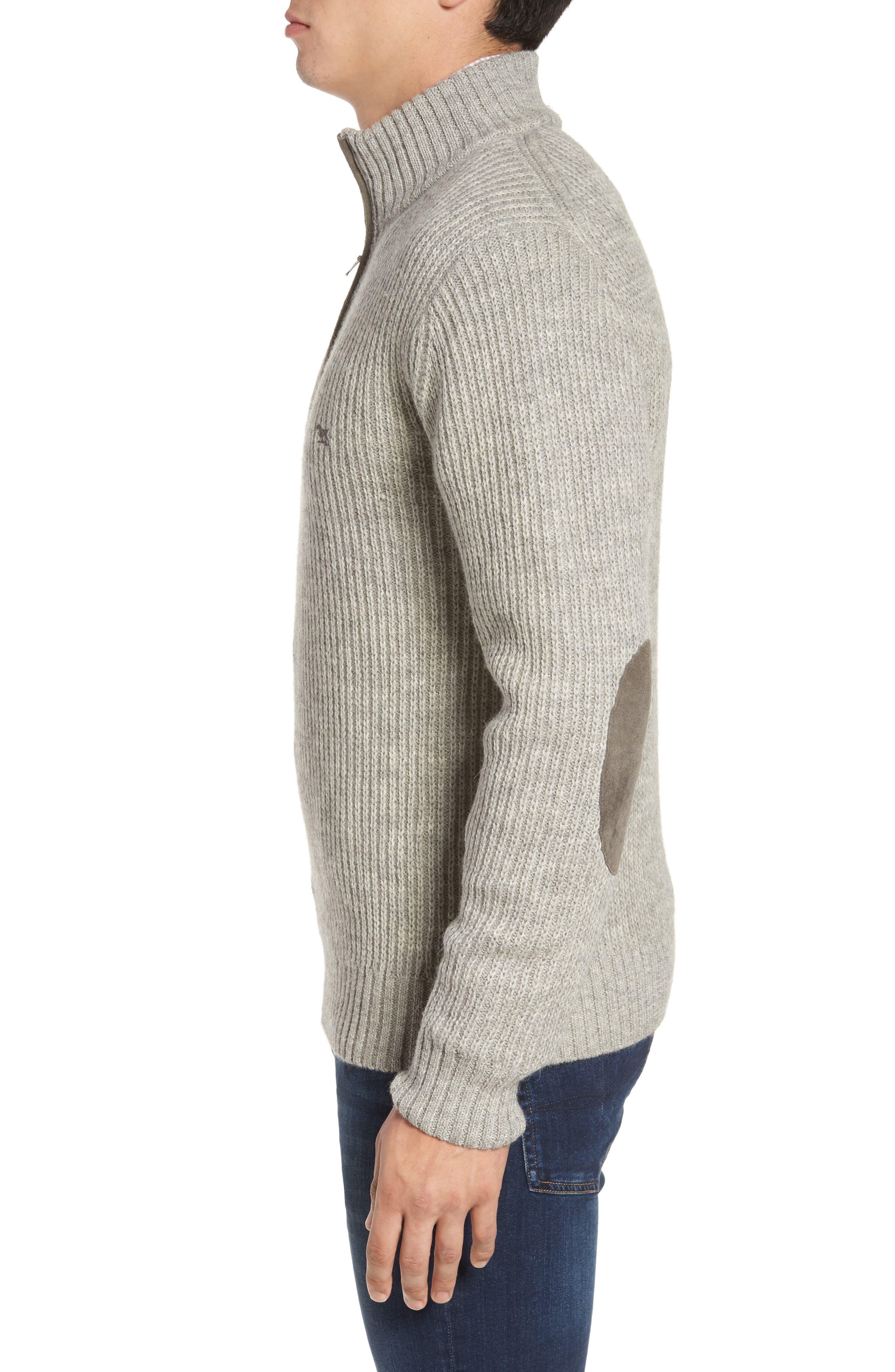 'Huka Lodge' Merino Wool Blend Quarter Zip Sweater,                             Alternate thumbnail 3, color,                             268