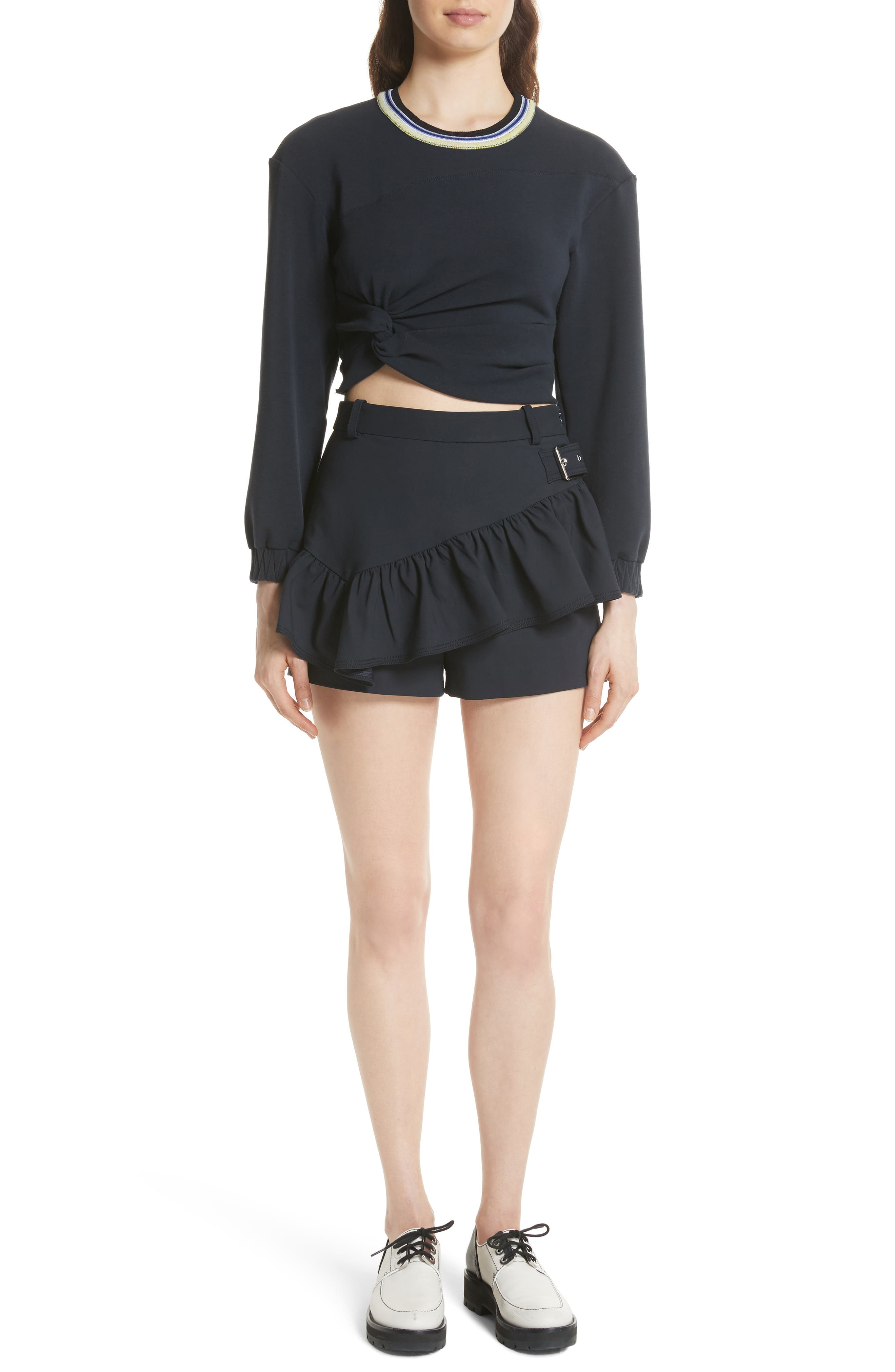 Twisted Crop Top,                             Alternate thumbnail 7, color,                             401