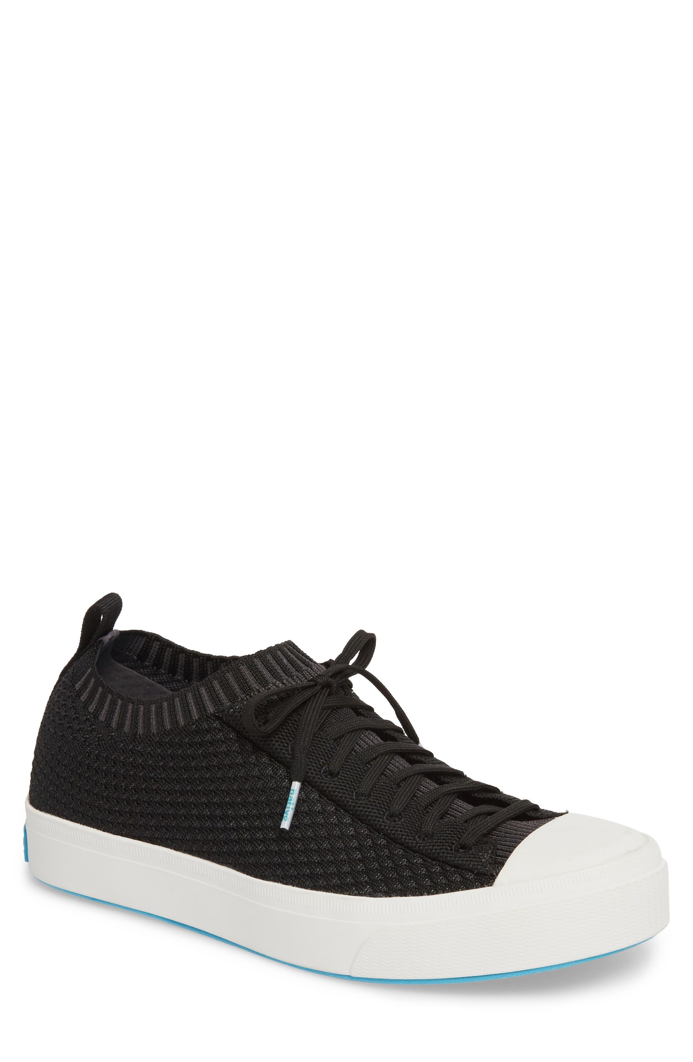 Jefferson 2.0 Liteknit Lace-Up Sneaker,                             Main thumbnail 1, color,                             JIFFY BLACK/ SHELL WHITE