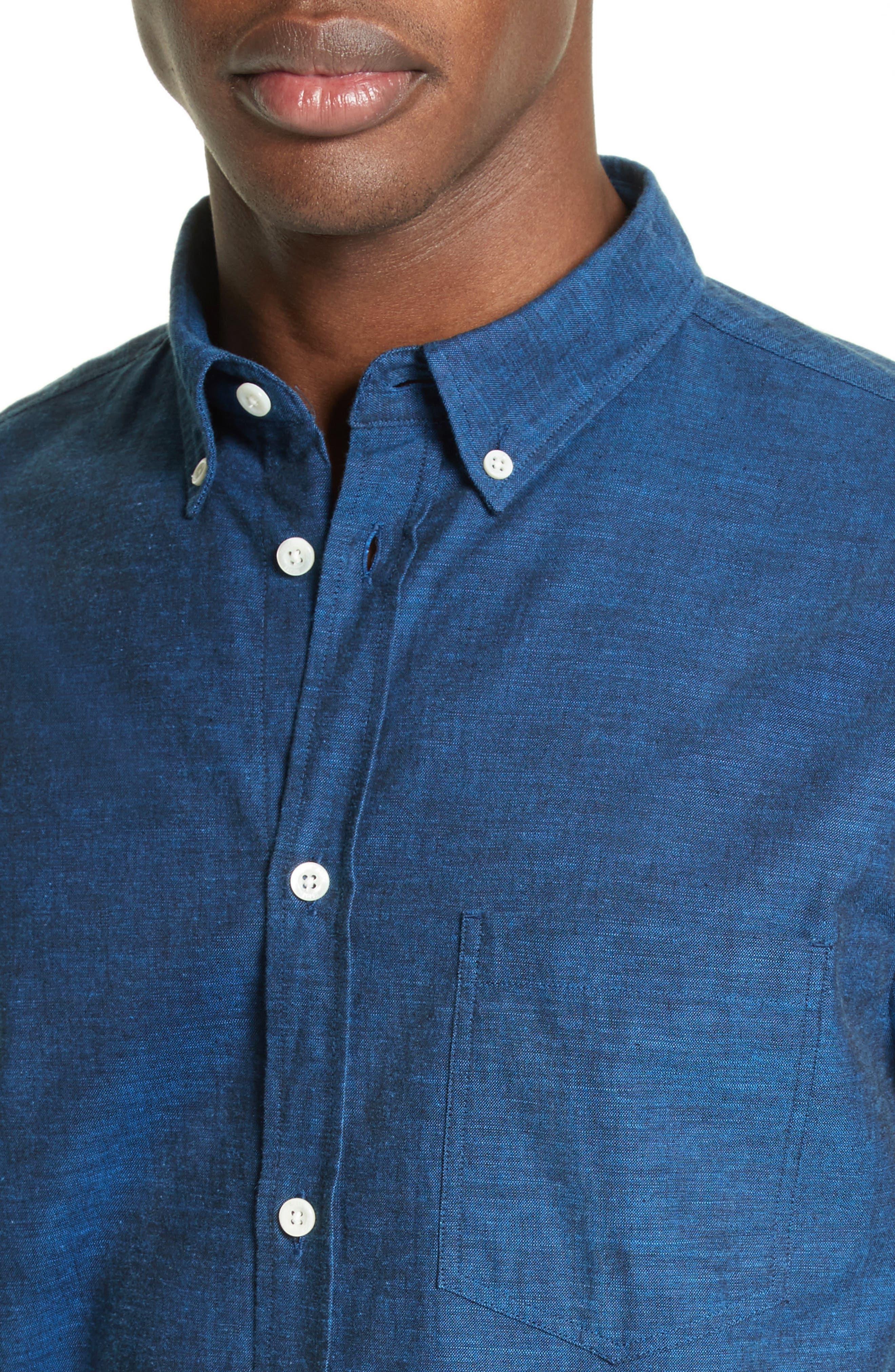 Woven Shirt,                             Alternate thumbnail 5, color,                             400