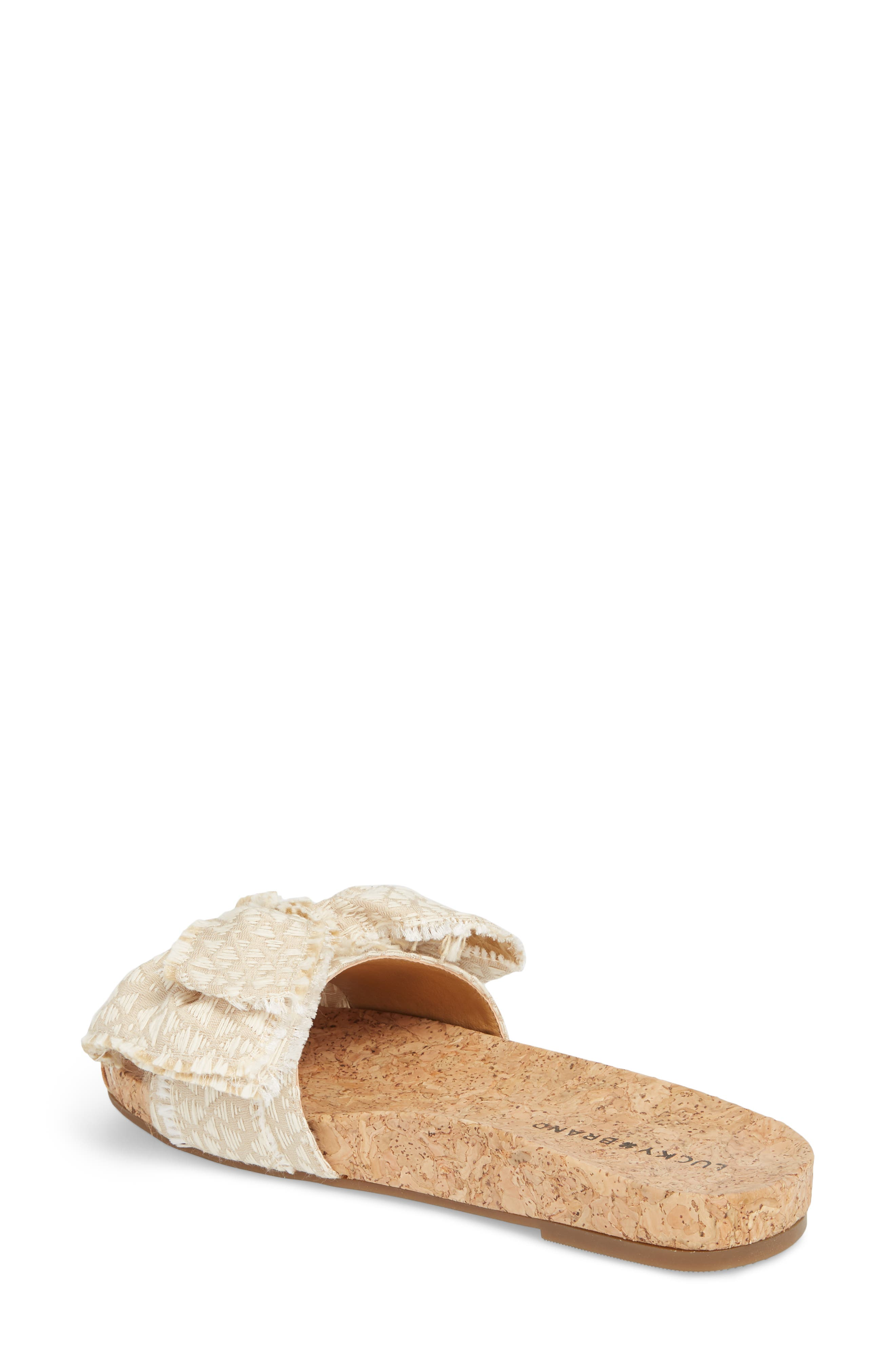 Floella Bow Slide Sandal,                             Alternate thumbnail 2, color,                             270