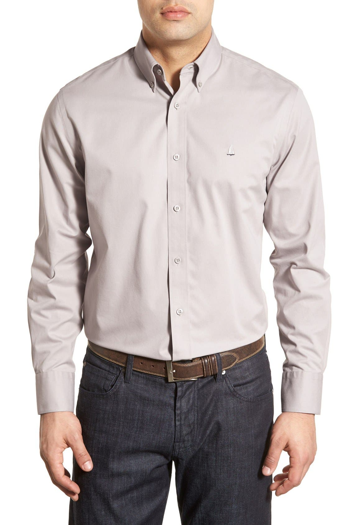 Smartcare<sup>™</sup> Traditional Fit Twill Boat Shirt,                             Main thumbnail 9, color,