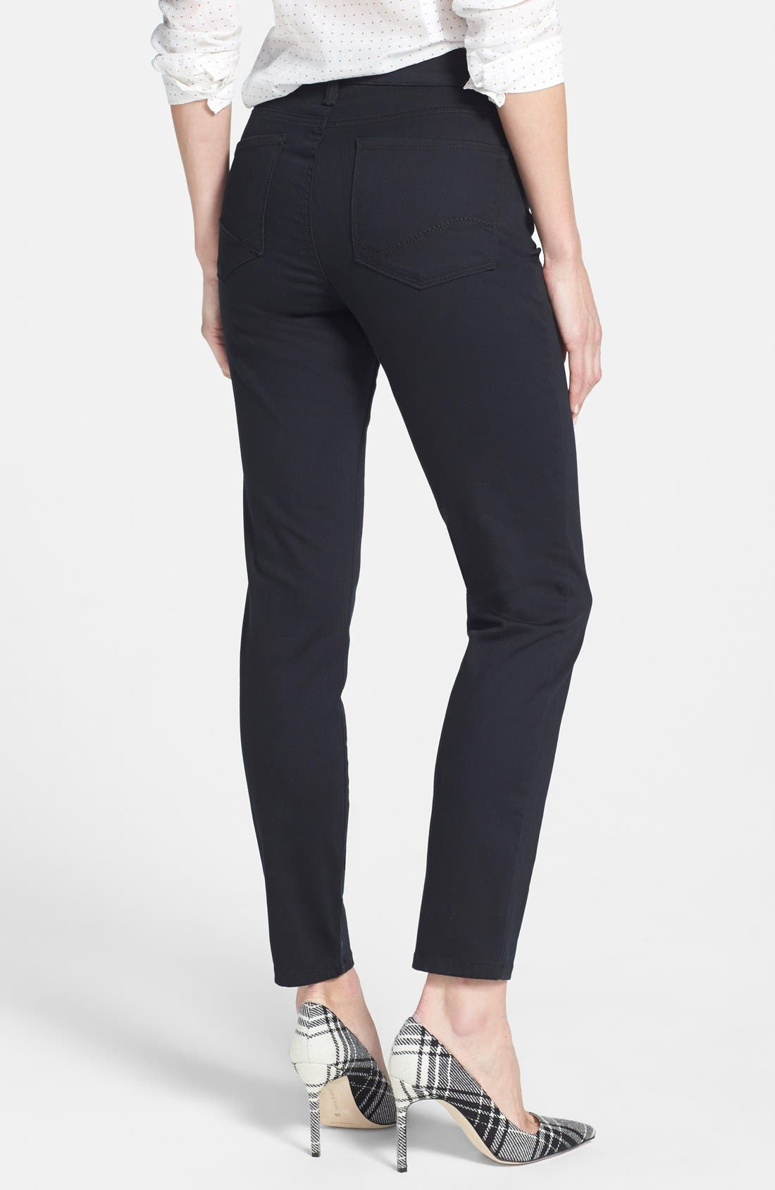 Alina Colored Stretch Ankle Skinny Jeans,                             Alternate thumbnail 2, color,                             002