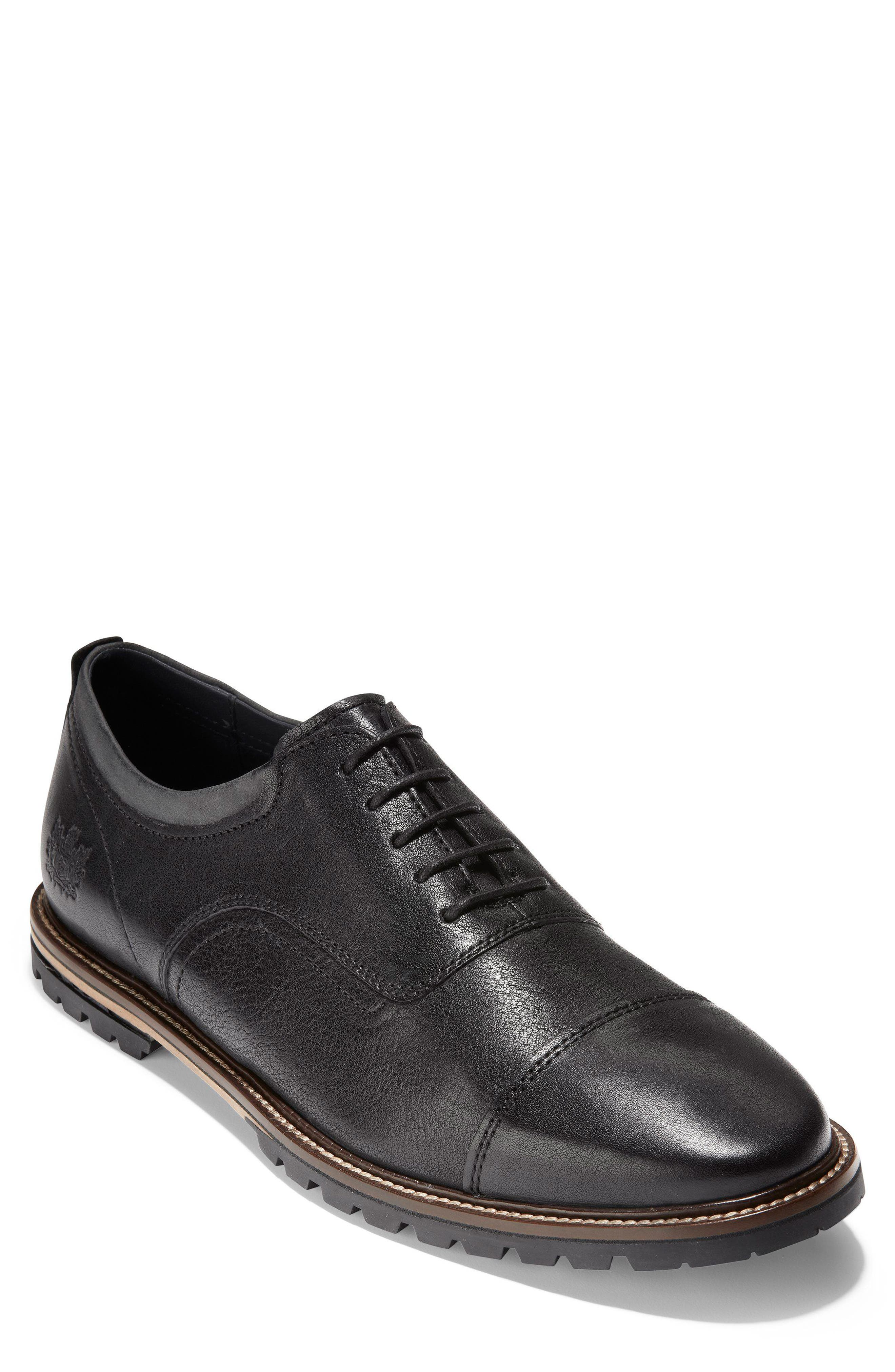 Richardson Cap Toe Derby,                             Main thumbnail 1, color,                             BLACK LEATHER
