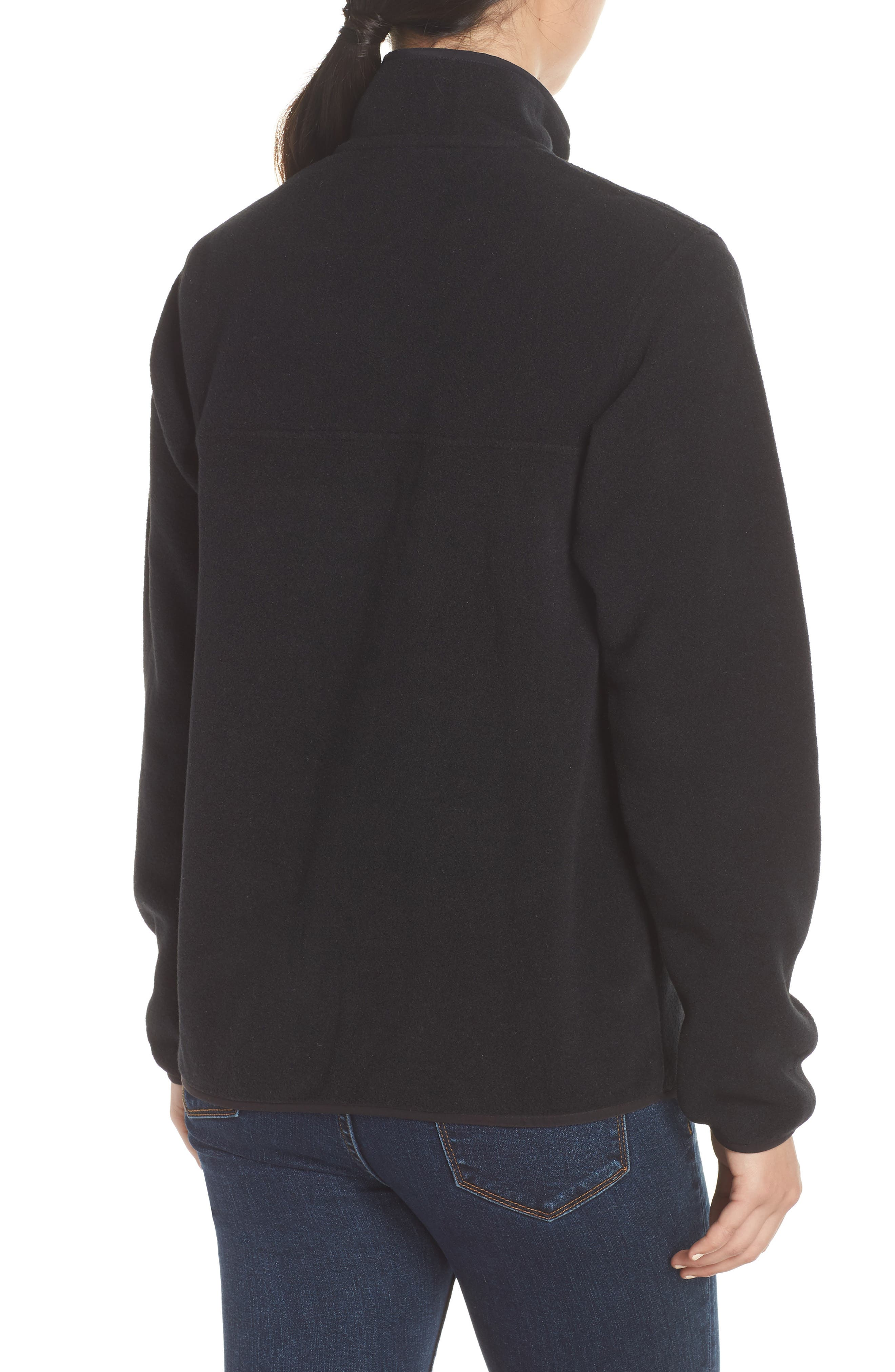 PATAGONIA,                             Synchilla Snap-T<sup>®</sup> Fleece Pullover,                             Alternate thumbnail 2, color,                             BLACK W/ BLACK