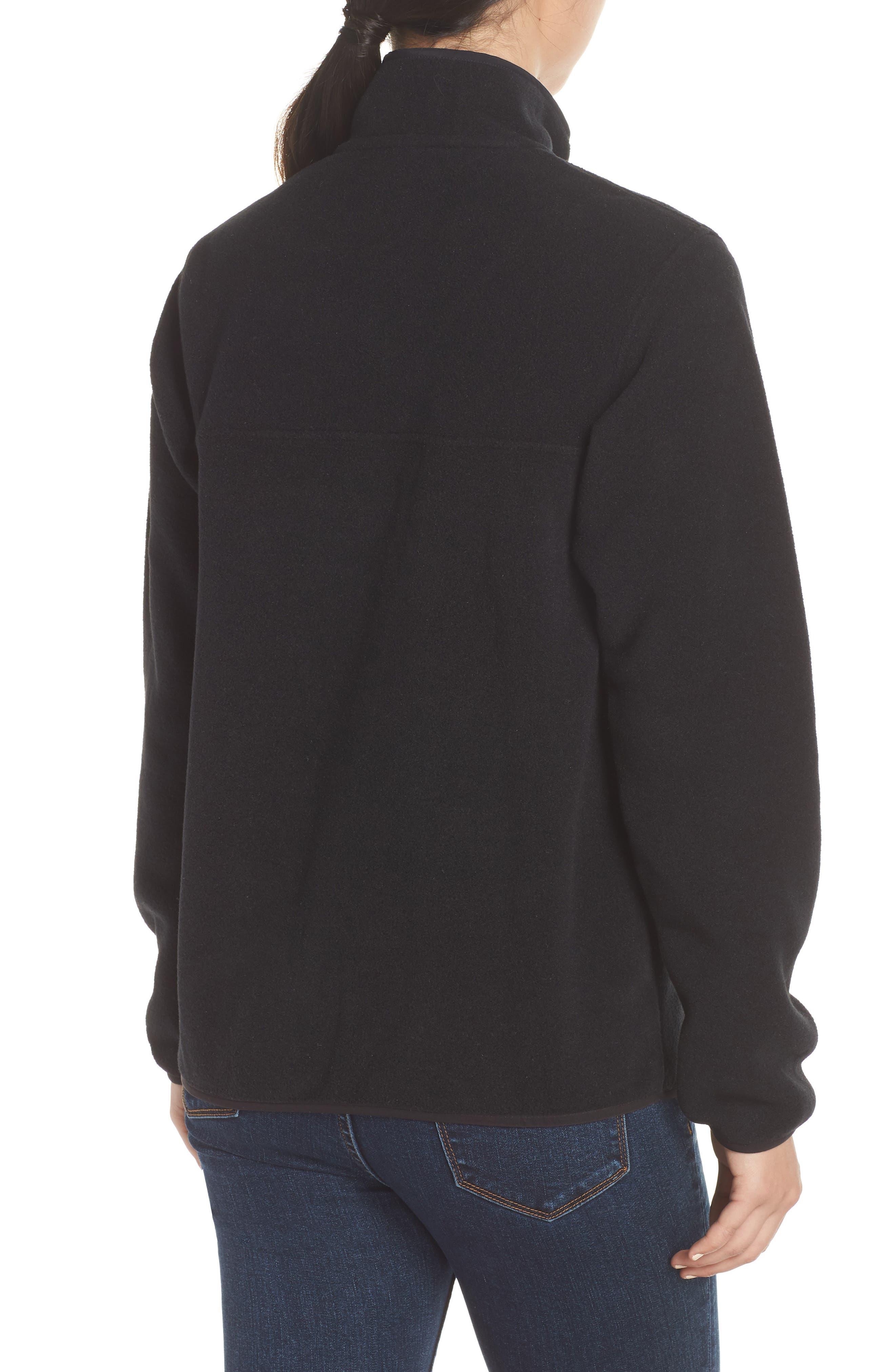 Synchilla Snap-T<sup>®</sup> Fleece Pullover,                             Alternate thumbnail 2, color,                             BLACK W/ BLACK