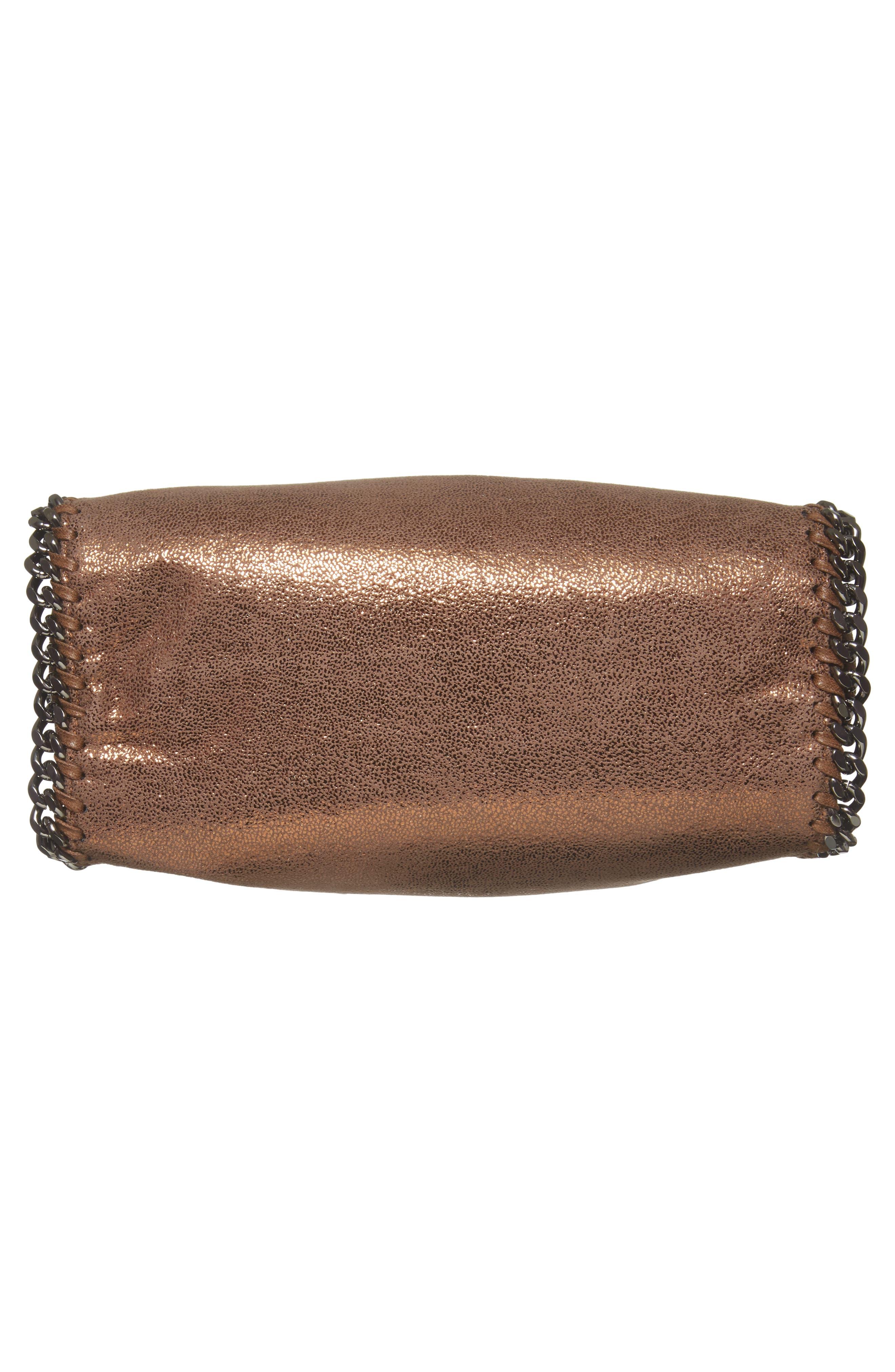 Mini Falabella Shaggy Deer Metallic Faux Leather Tote,                             Alternate thumbnail 6, color,                             200