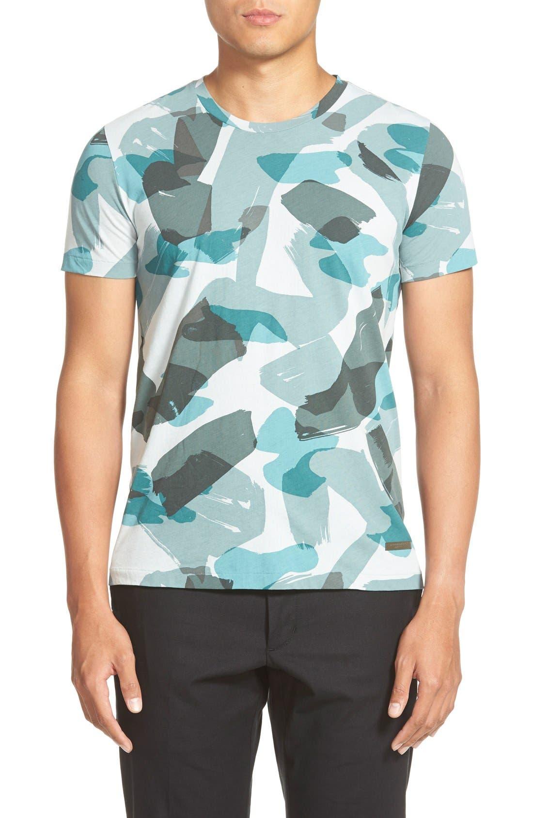 Brit 'Eliot' Camo Print T-Shirt, Main, color, 440