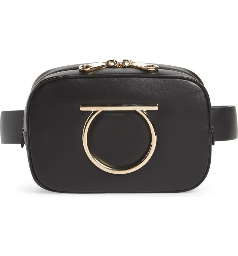 6e10776c52ac Salvatore Ferragamo Gancio Leather Belt Bag