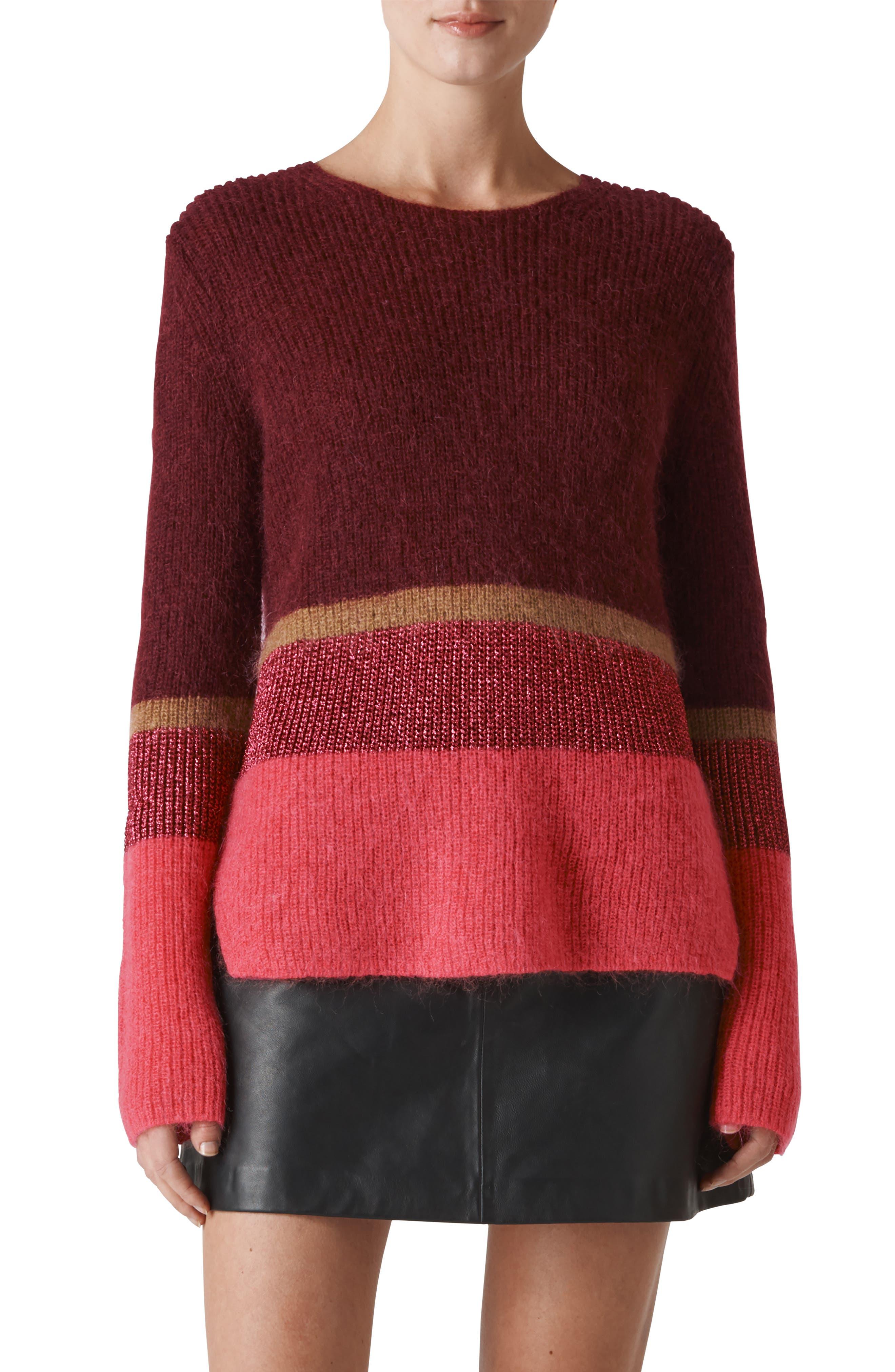 Wide Stripe Sparkle Sweater, Main, color, 930