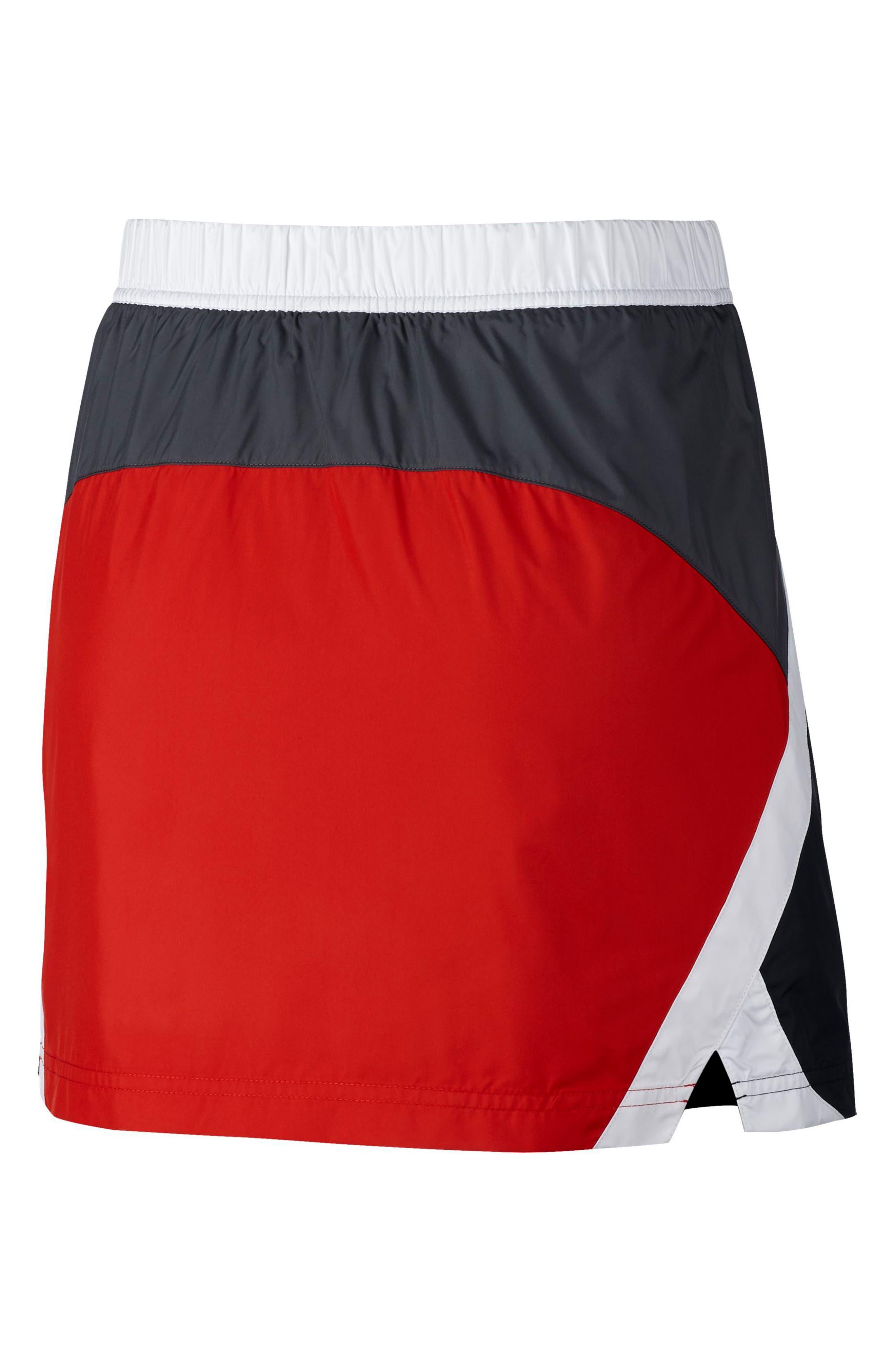Sportswear Woven Moto Skirt,                             Alternate thumbnail 2, color,                             001