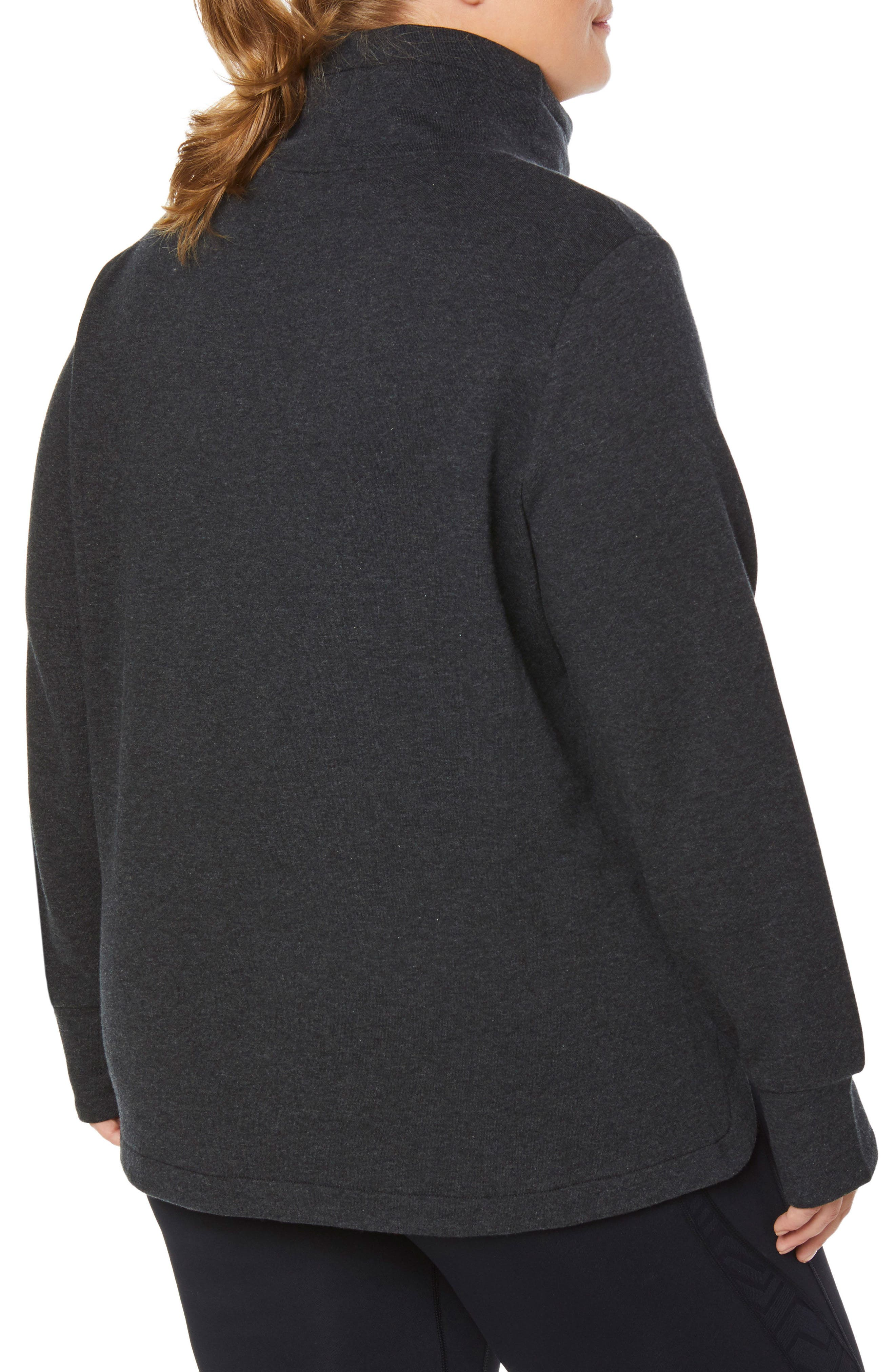 Saturday Mock Neck Pullover,                             Alternate thumbnail 2, color,                             CHARCOAL BLACK