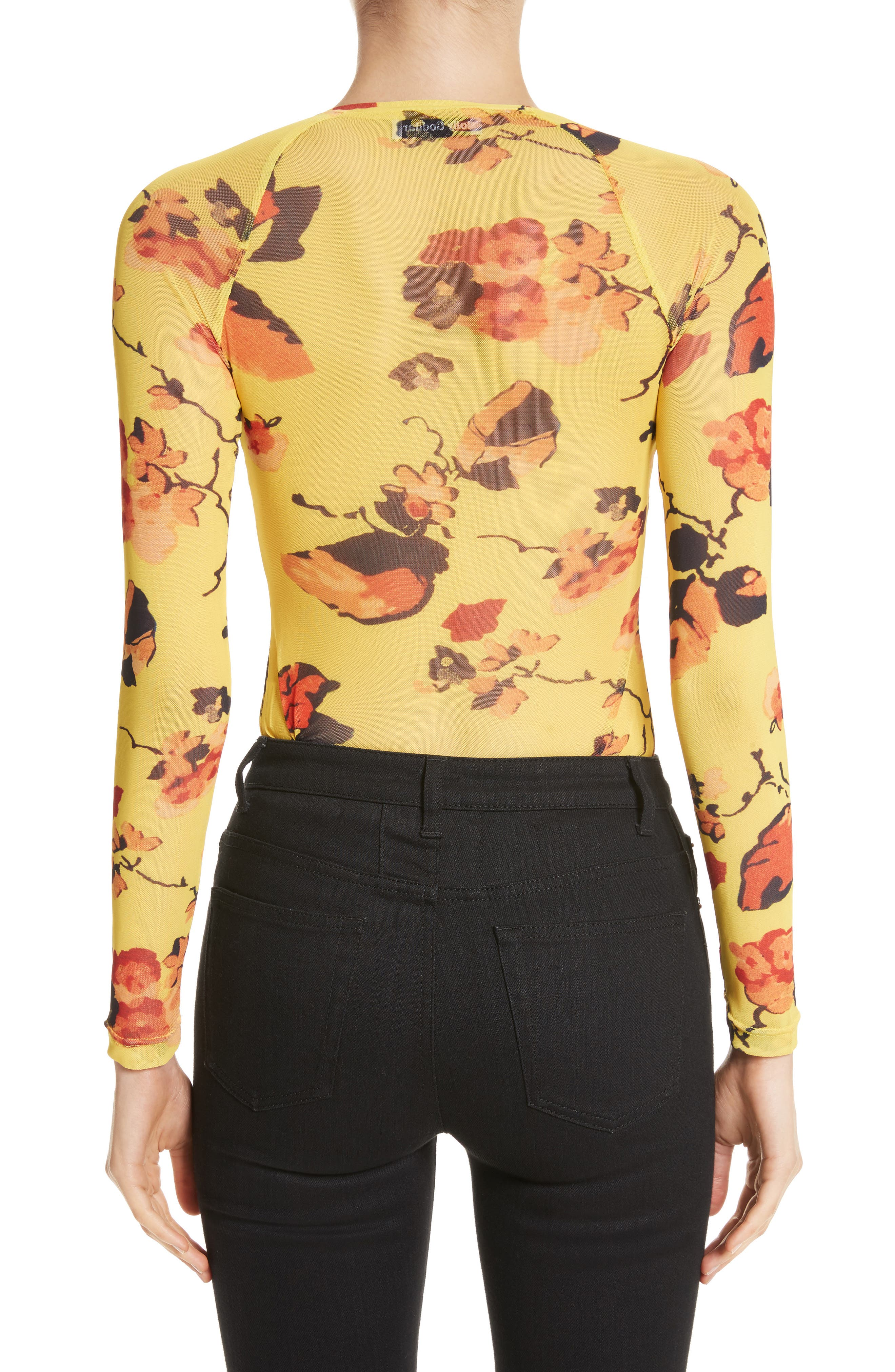 Spike Floral Mesh Top,                             Alternate thumbnail 2, color,                             700