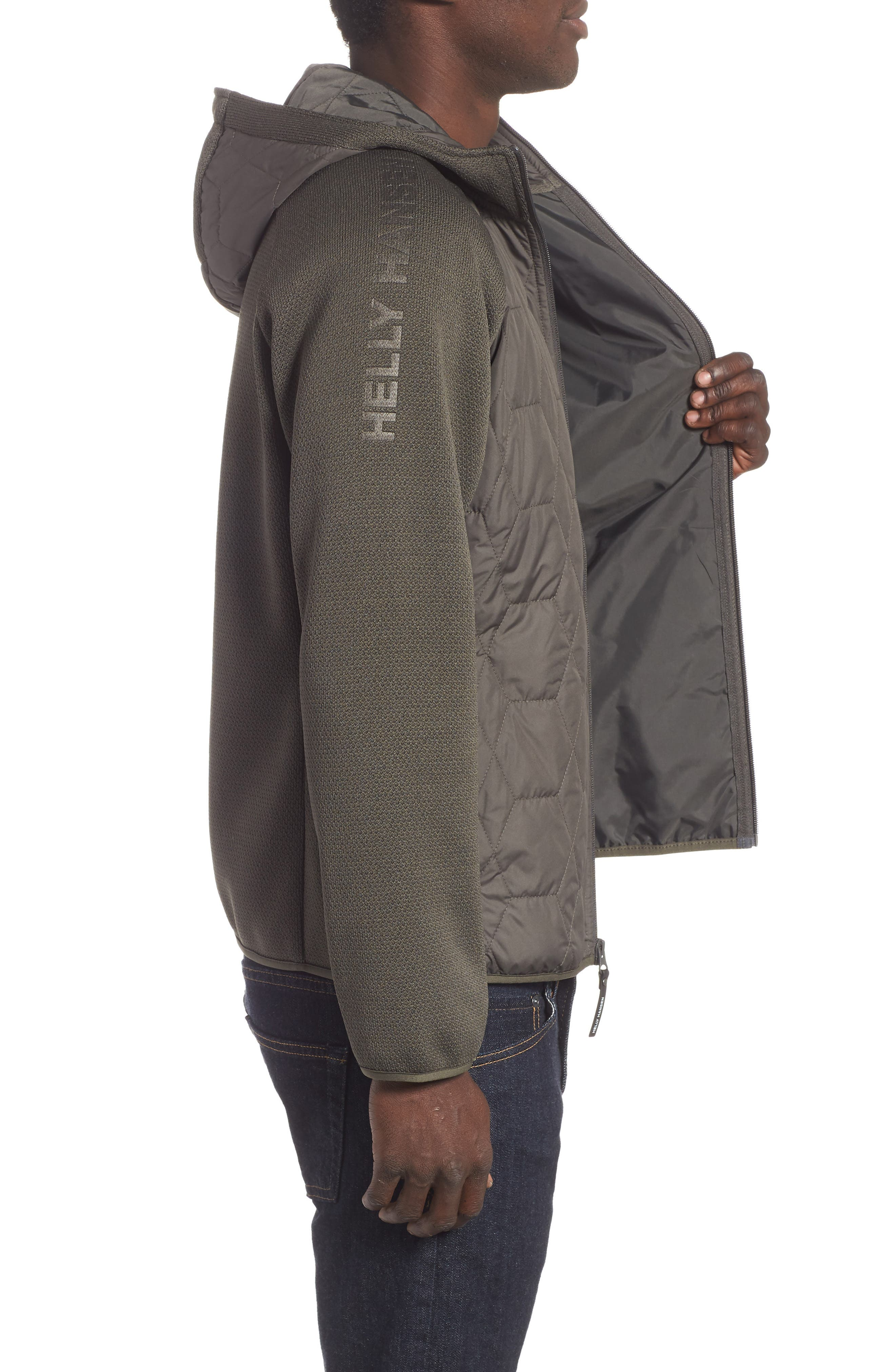 Shore Hybrid Insulator Jacket,                             Alternate thumbnail 3, color,                             BELUGA