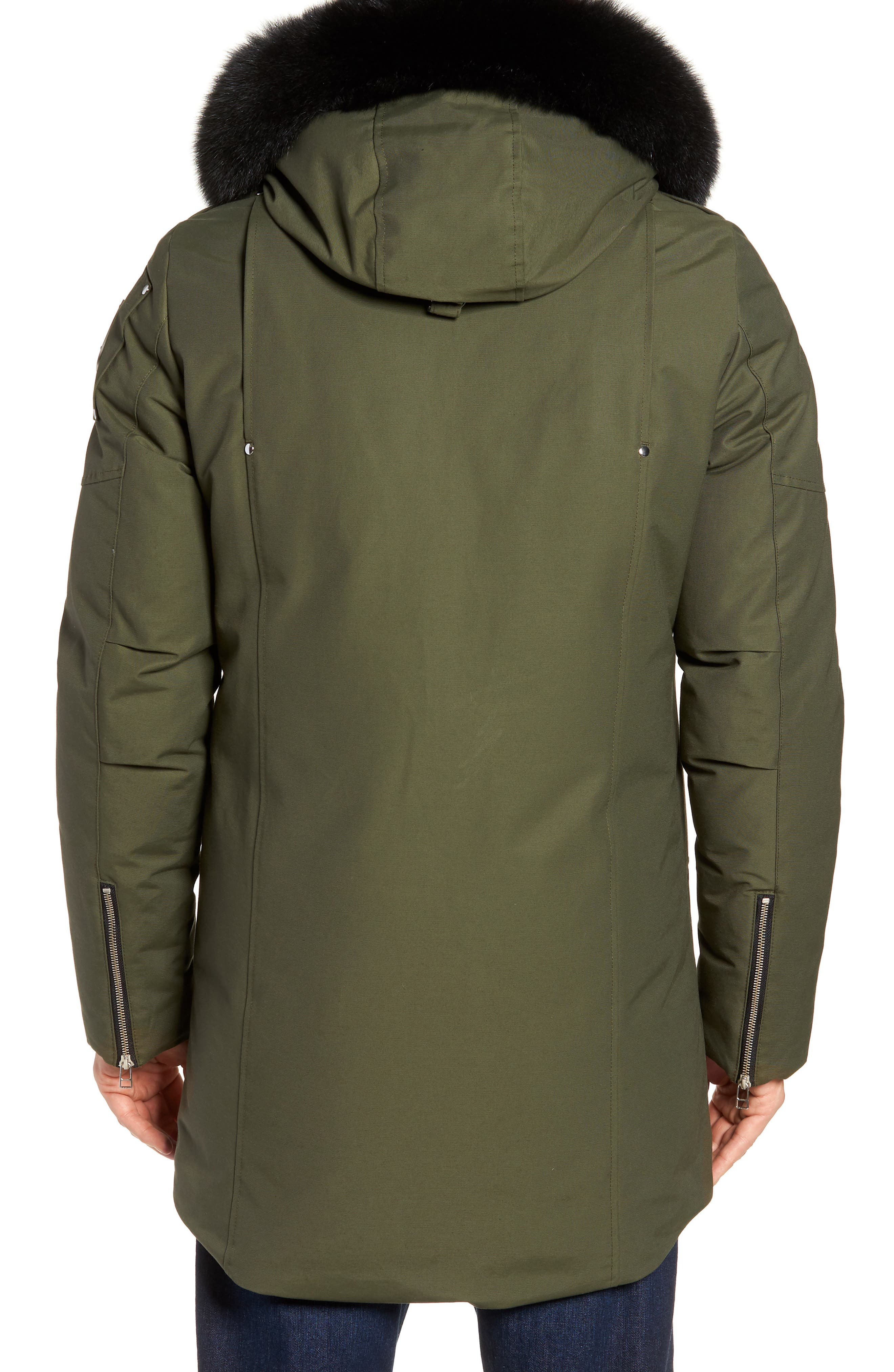 Stirling Water Repellent Down Parka with Genuine Fox Fur Trim,                             Alternate thumbnail 6, color,