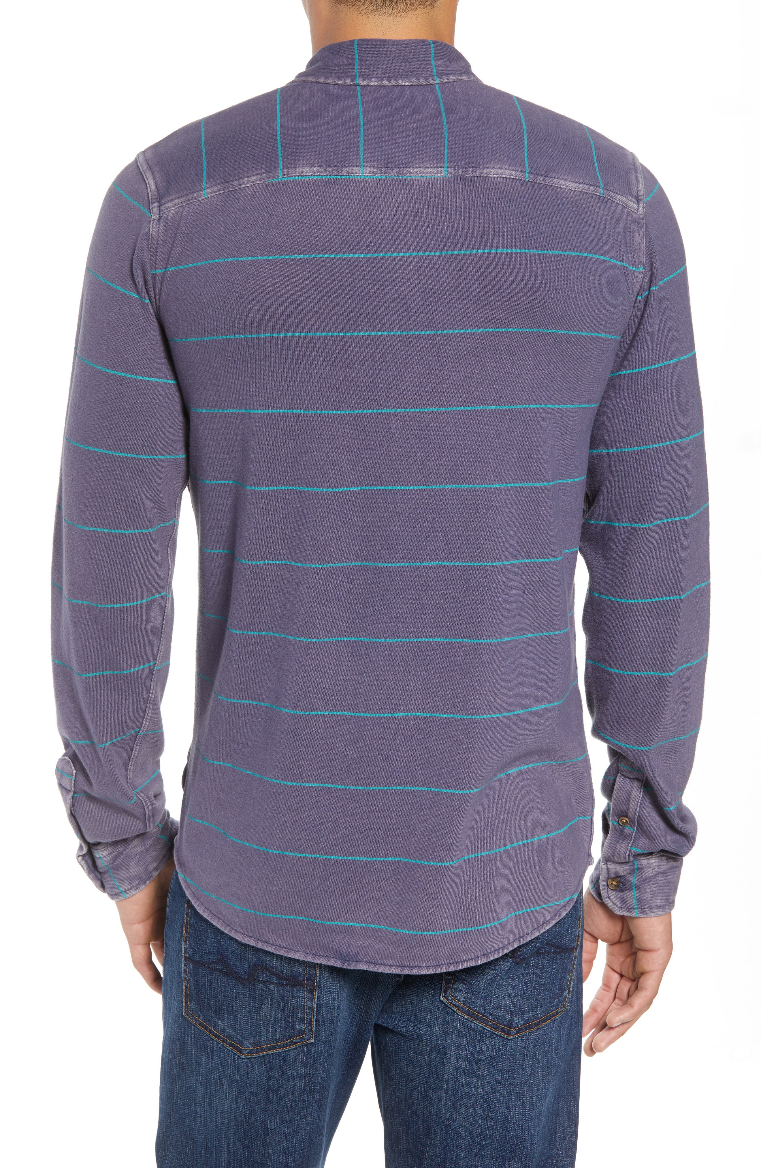 Cowell Knit Button-Up Shirt,                             Alternate thumbnail 2, color,                             NAVY