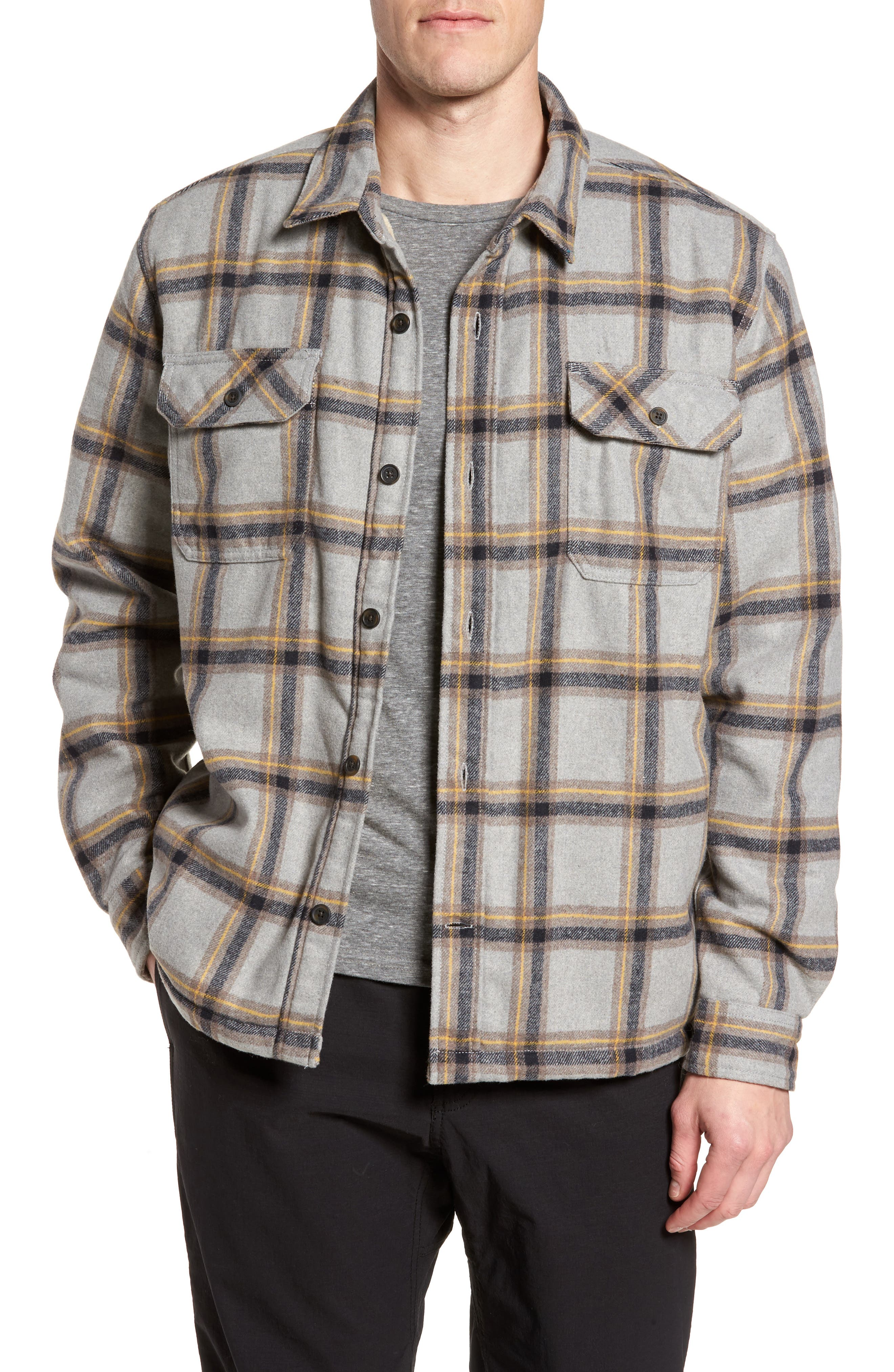 Tough Guy Plush Lined Flannel Shirt Jacket,                         Main,                         color, 020