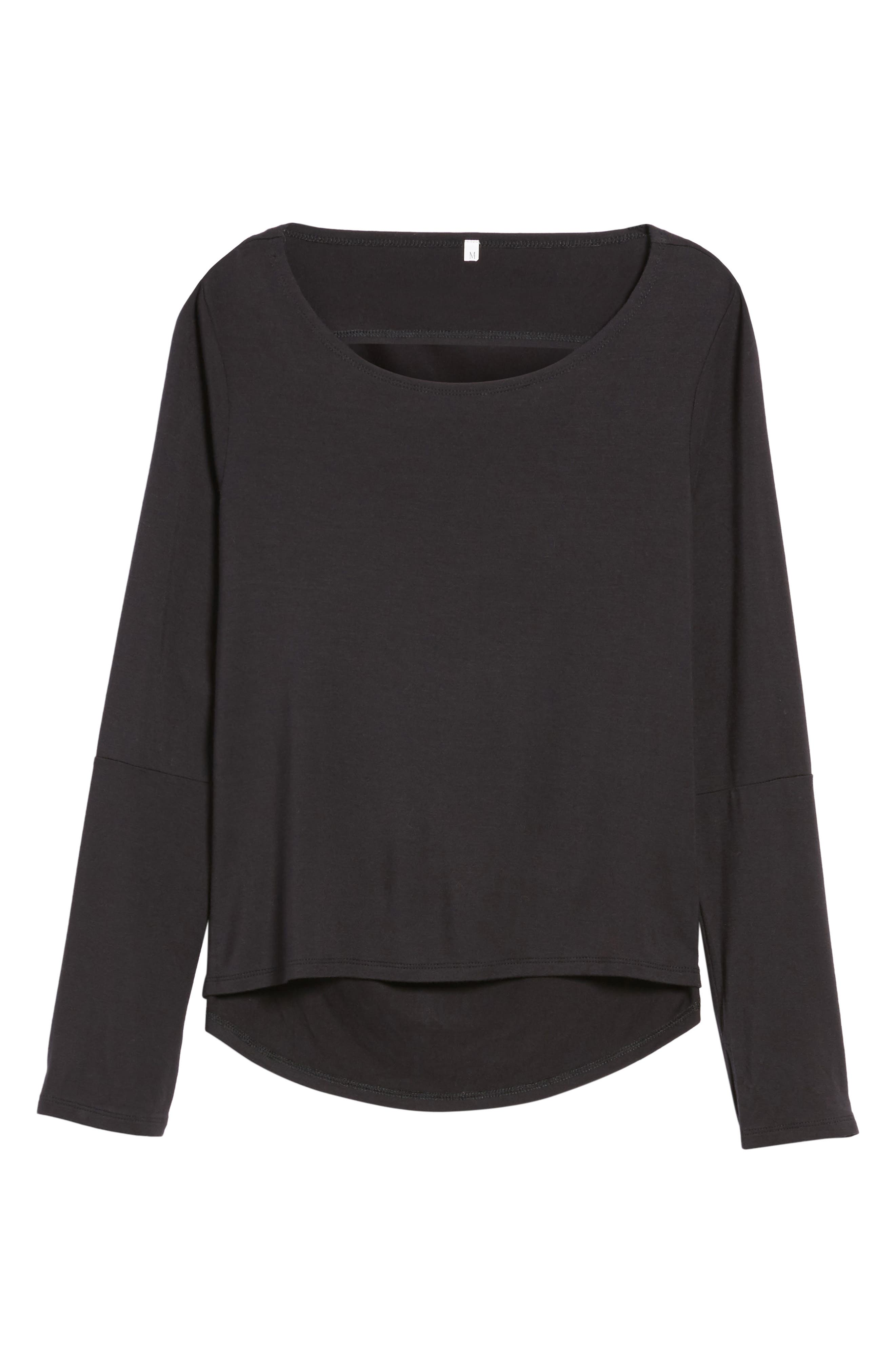Cowl Neck Tee,                         Main,                         color, 001