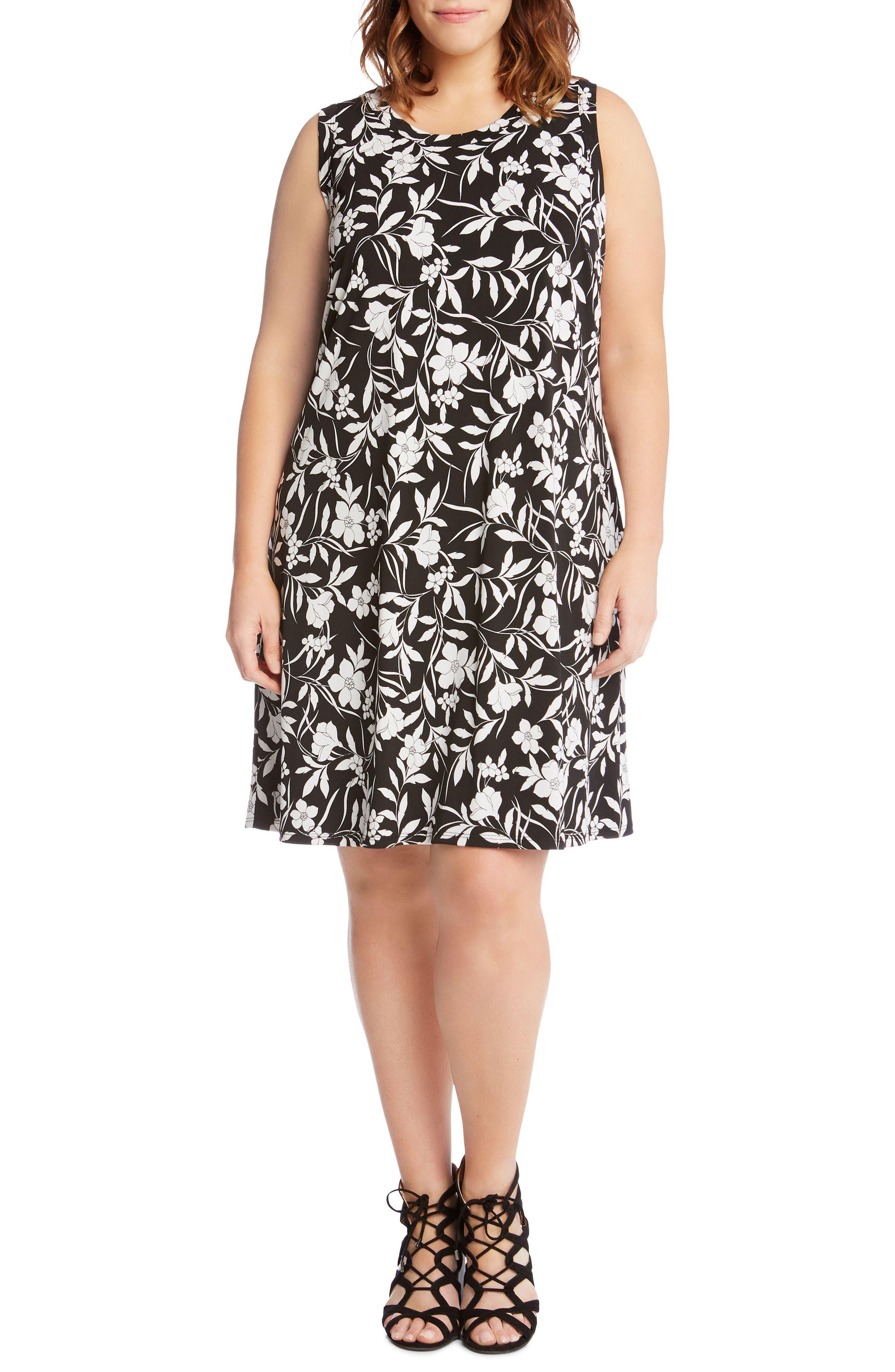 Floral Shift Dress,                             Main thumbnail 1, color,                             005