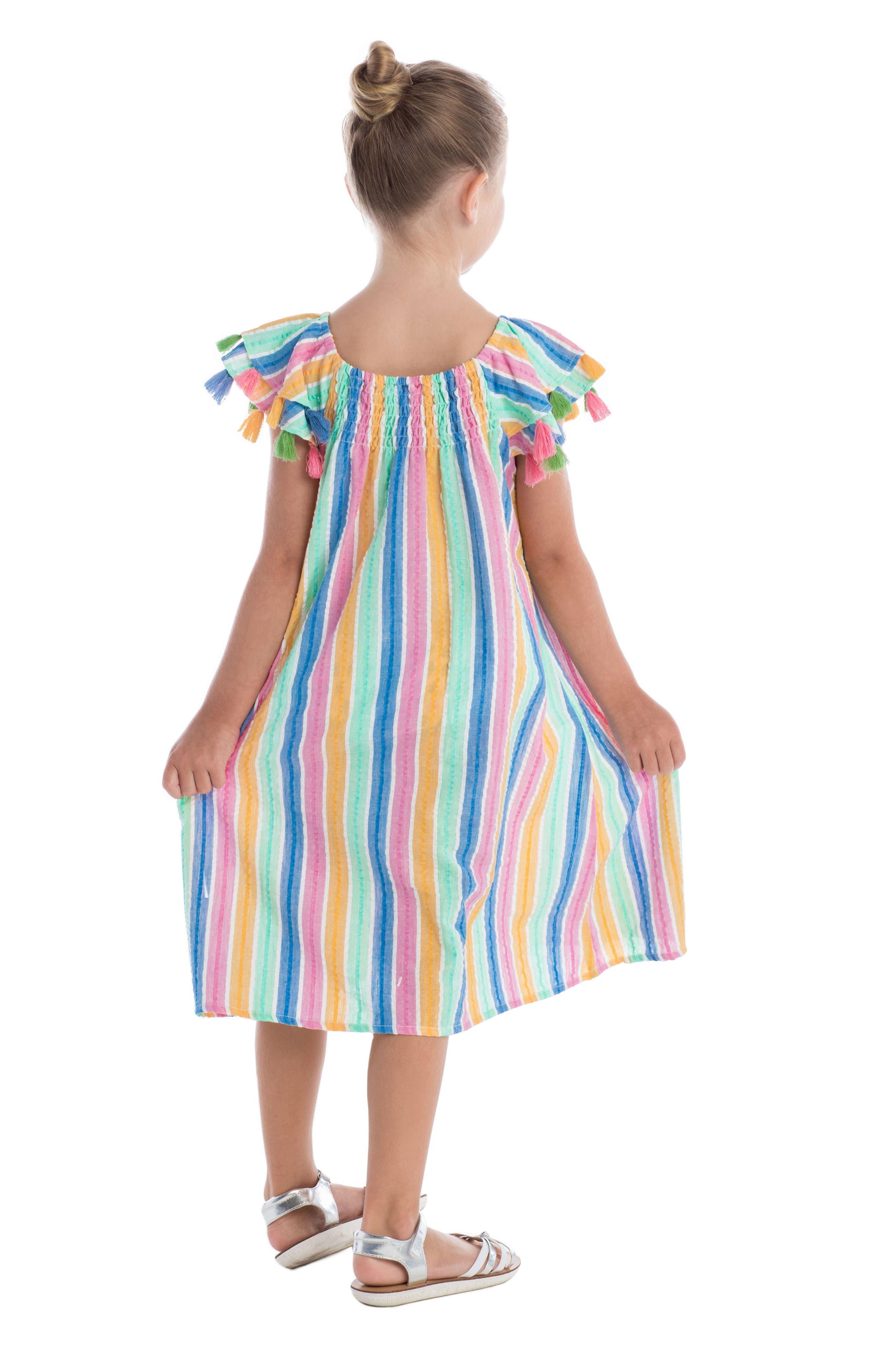 Sundancer Stripe Cotton Dress,                             Alternate thumbnail 3, color,                             400