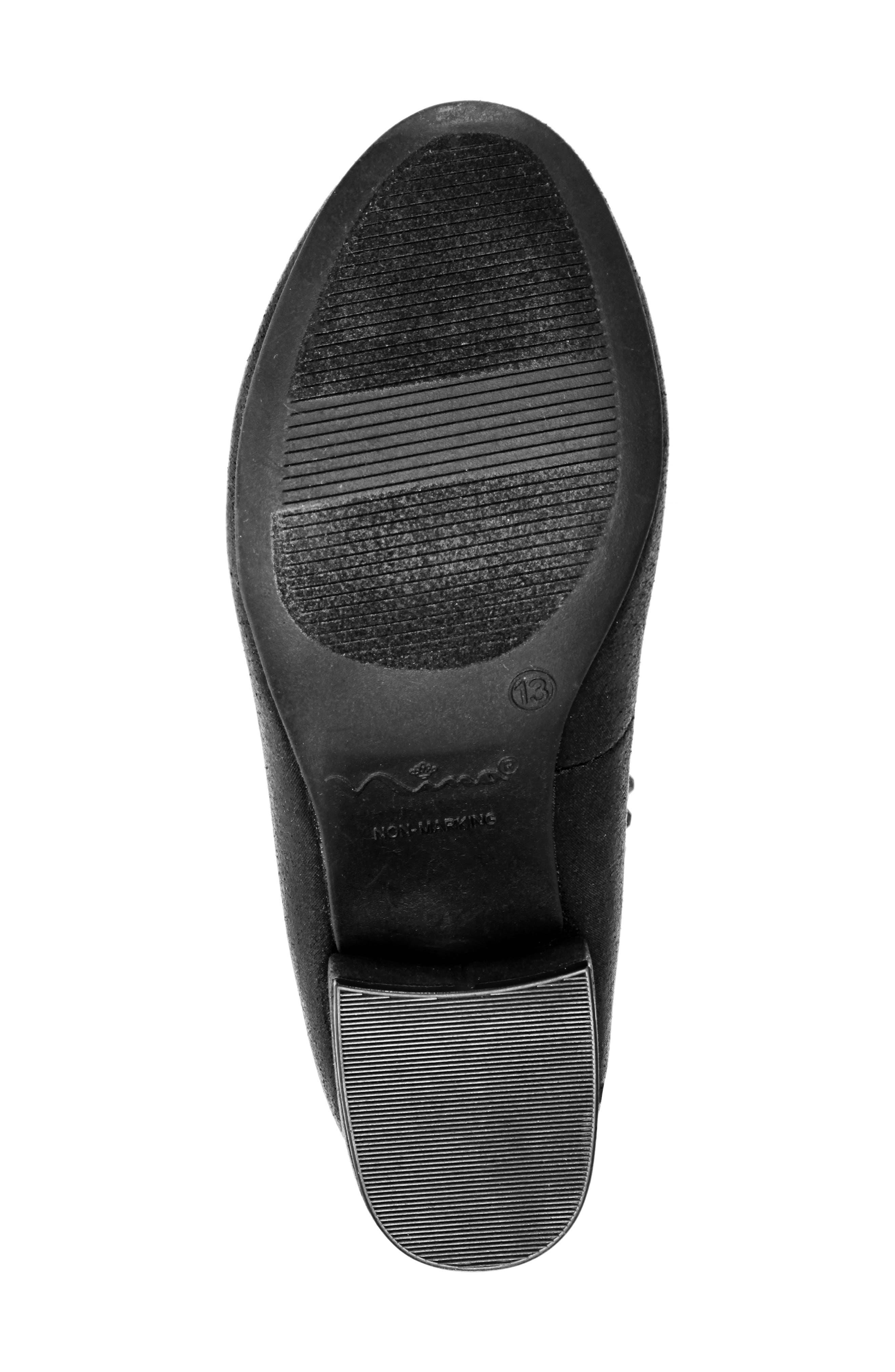 Charleen Ankle Strap Pump,                             Alternate thumbnail 6, color,                             BLACK SHIMMER FABRIC