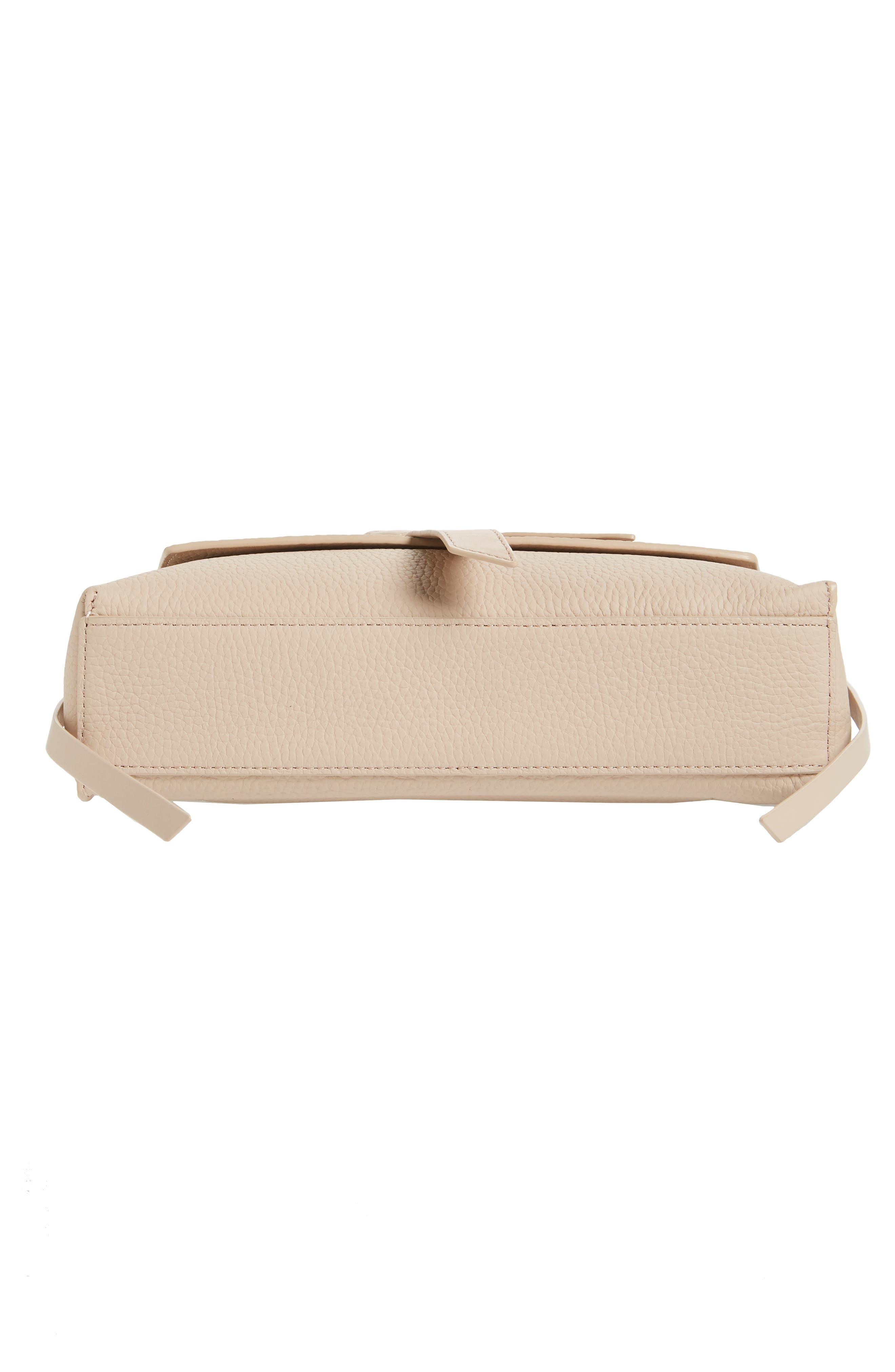 Cami Leather Shoulder Bag,                             Alternate thumbnail 6, color,                             NATURAL