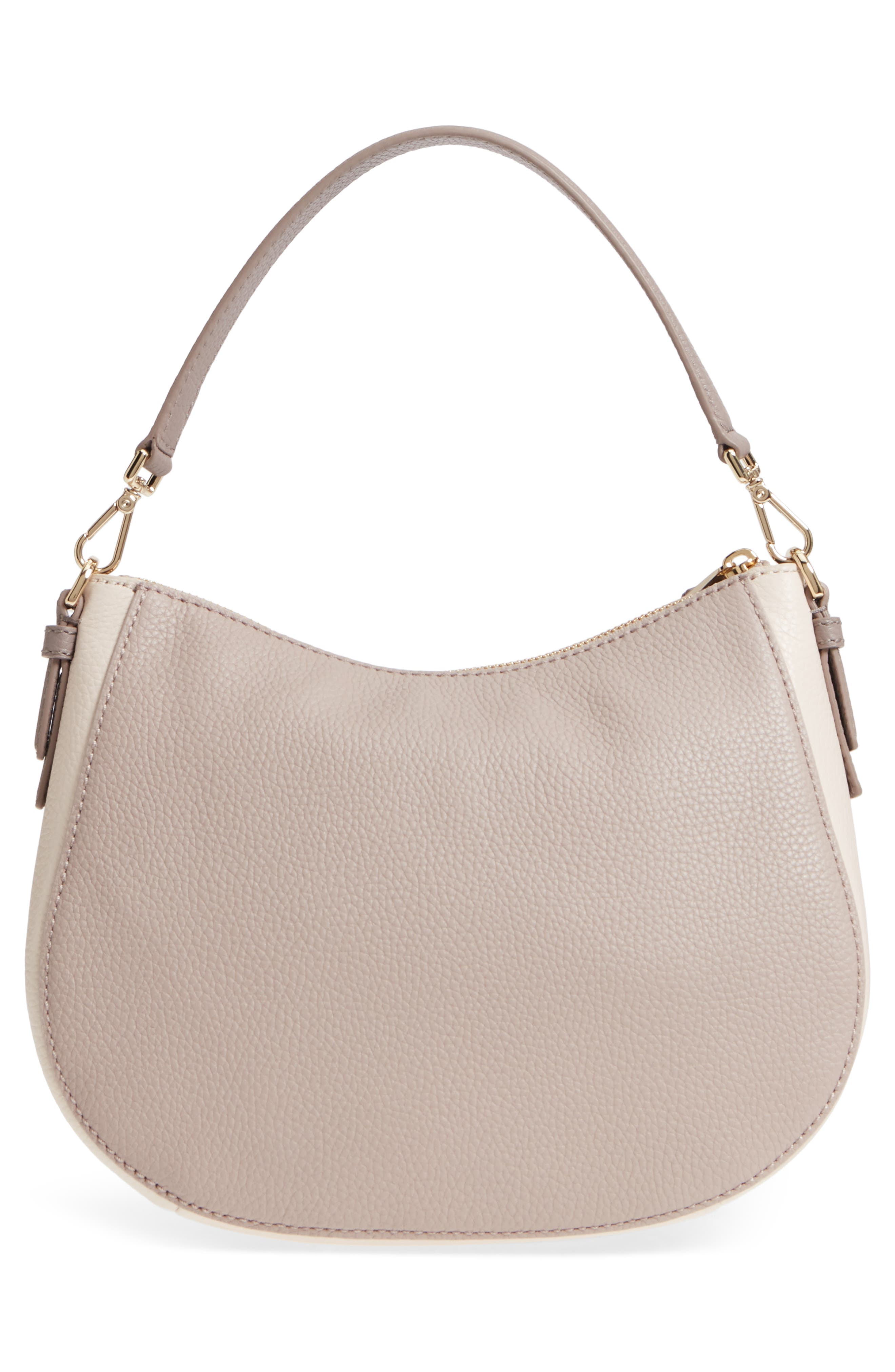 jackson street small mylie leather hobo,                             Alternate thumbnail 4, color,                             100