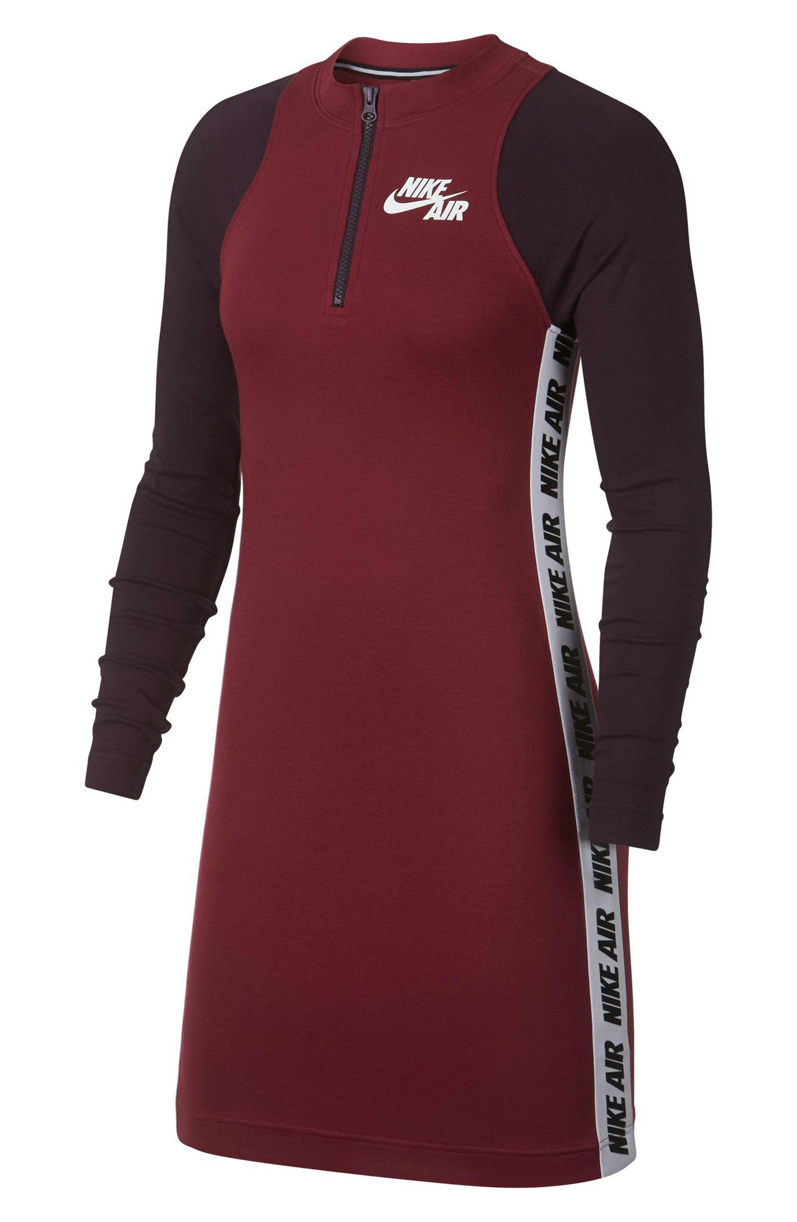 Sportswear Body-Con Jersey Dress,                             Main thumbnail 1, color,                             TEAM RED