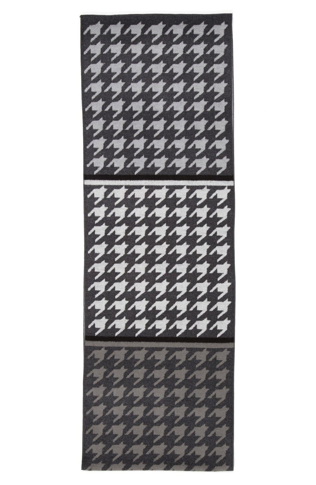 'Large Houndstooth' Silk Infinity Scarf,                             Alternate thumbnail 2, color,                             020