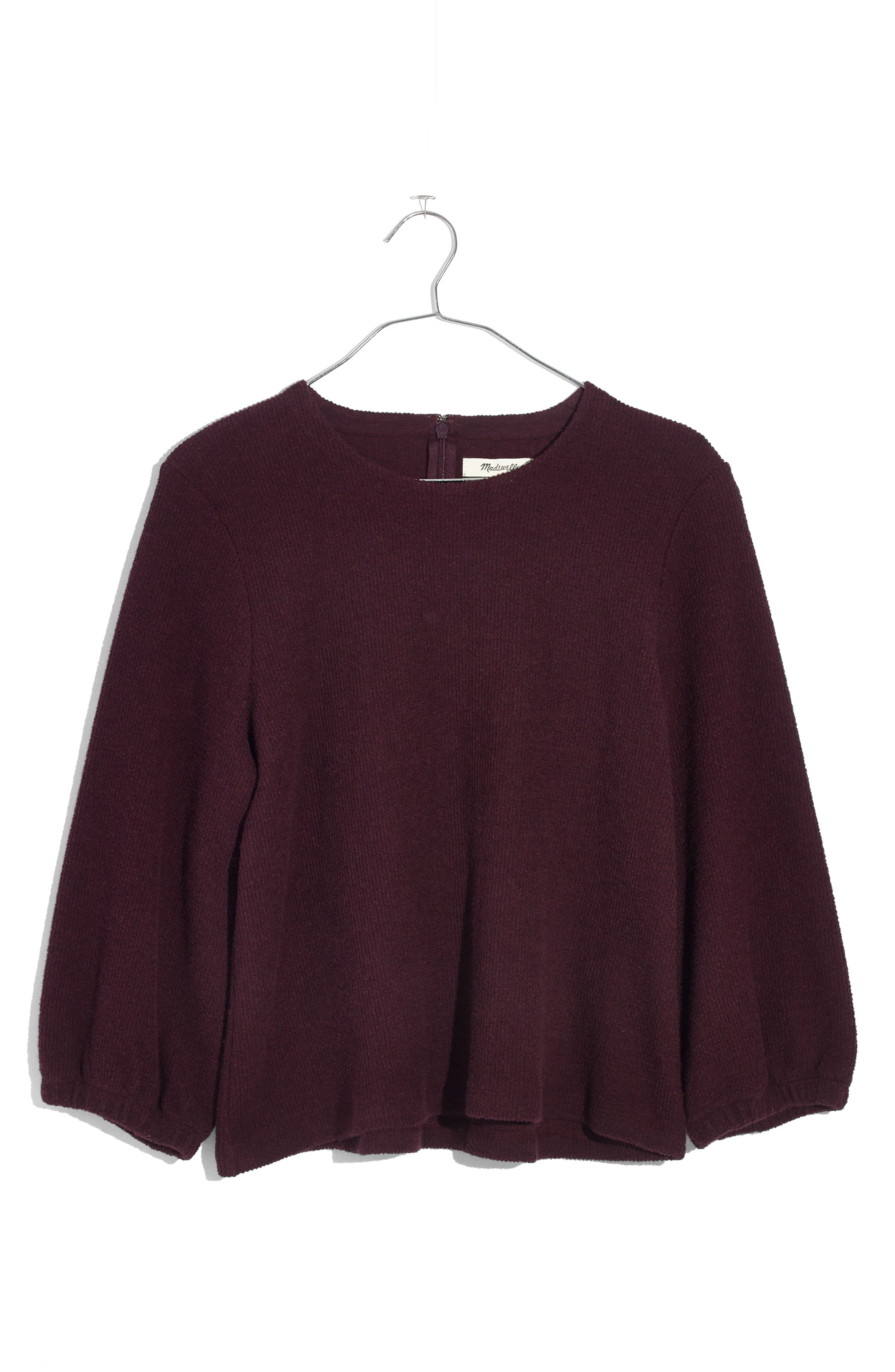 Shirred Sleeve Sweater,                             Alternate thumbnail 3, color,                             600